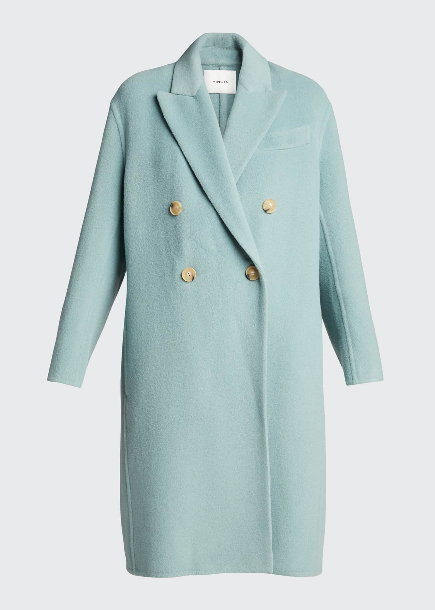 Image 5 of 5: Double-Breasted Oversized Wool-Blend Coat