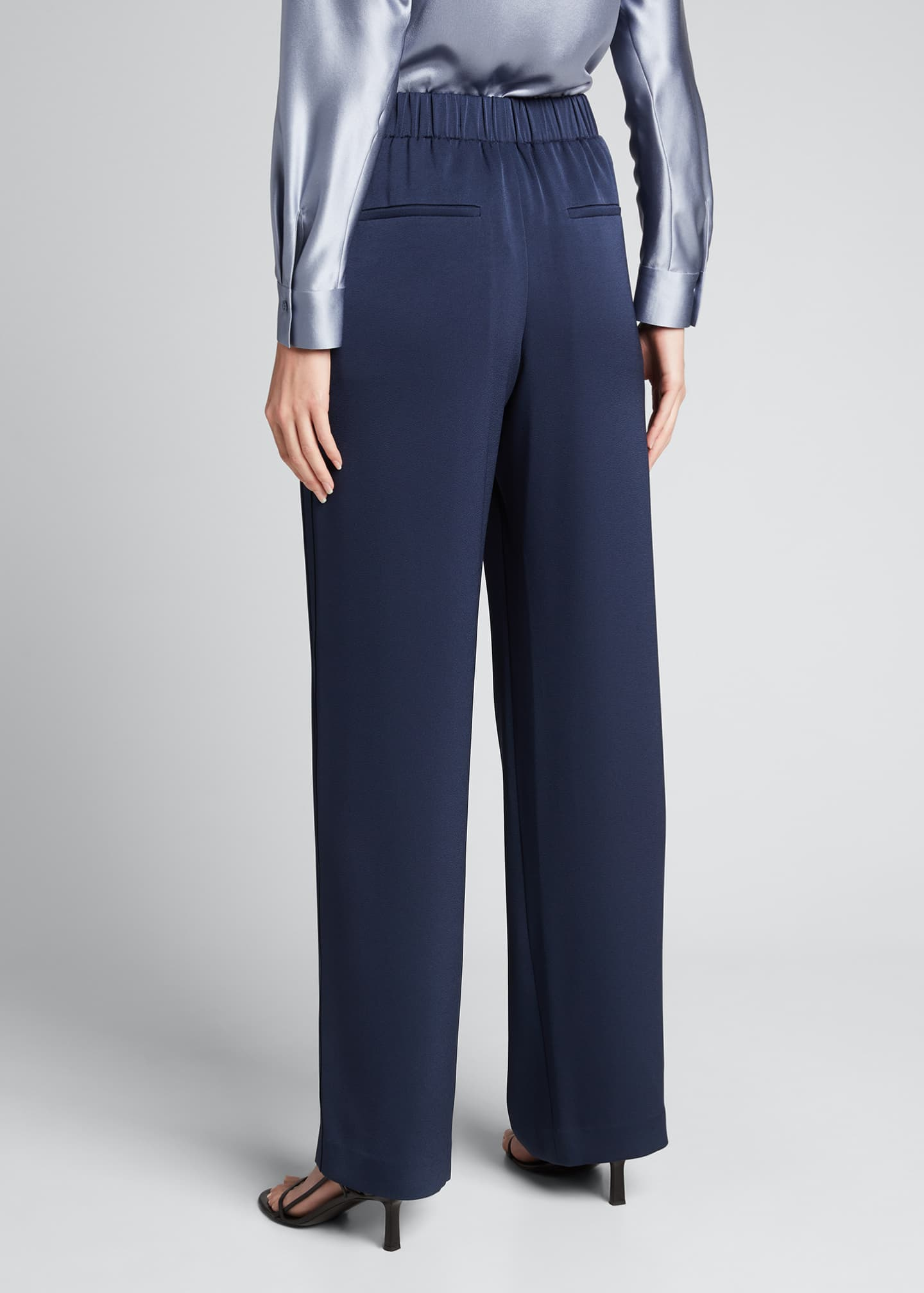 Image 2 of 5: Wide-Leg Pull-On Pants