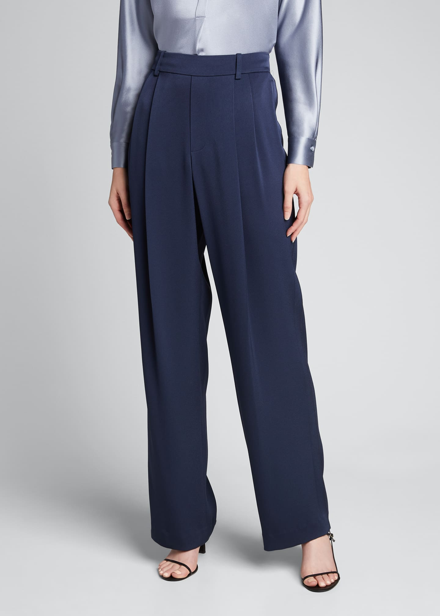 Image 3 of 5: Wide-Leg Pull-On Pants