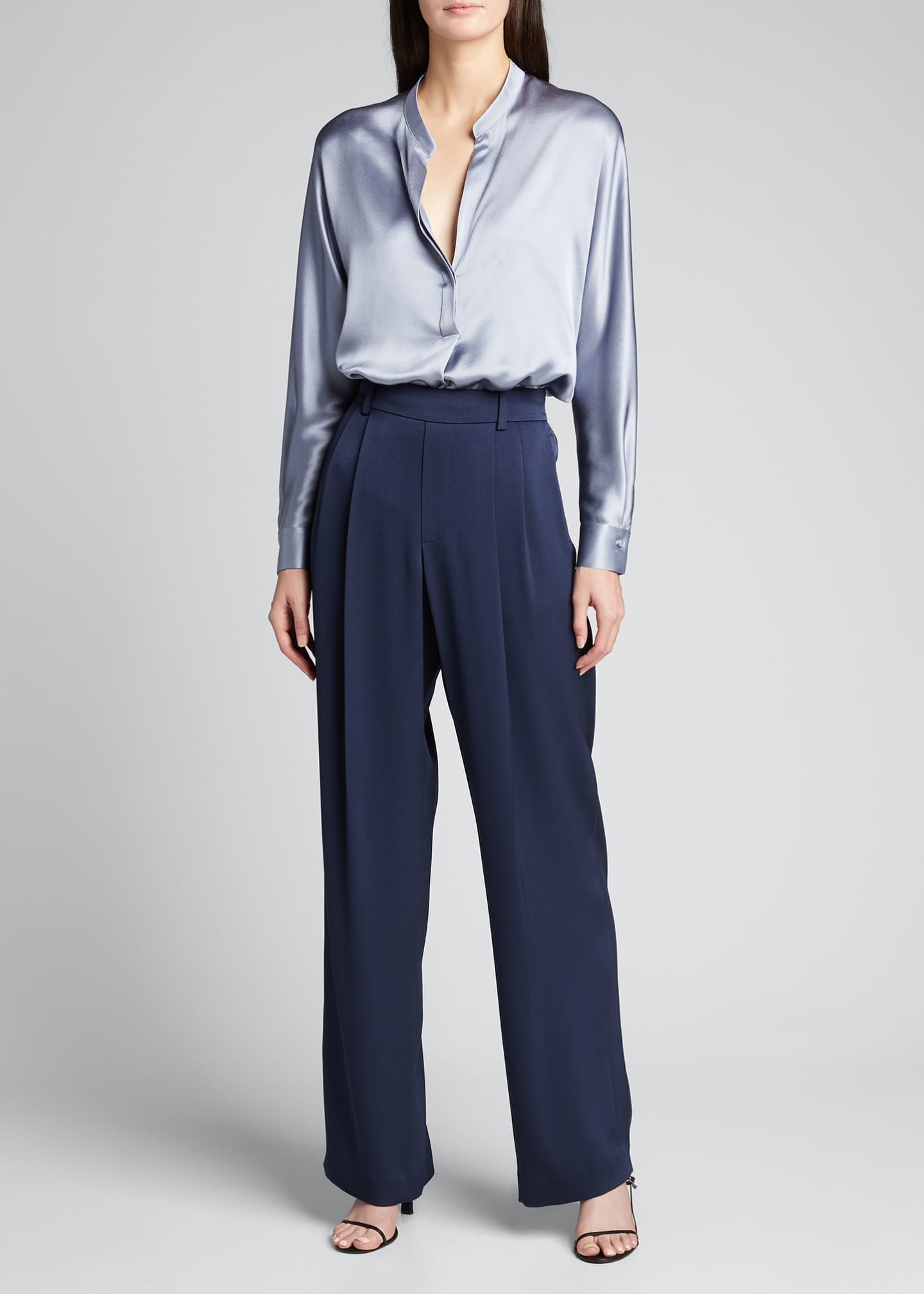 Image 1 of 5: Wide-Leg Pull-On Pants