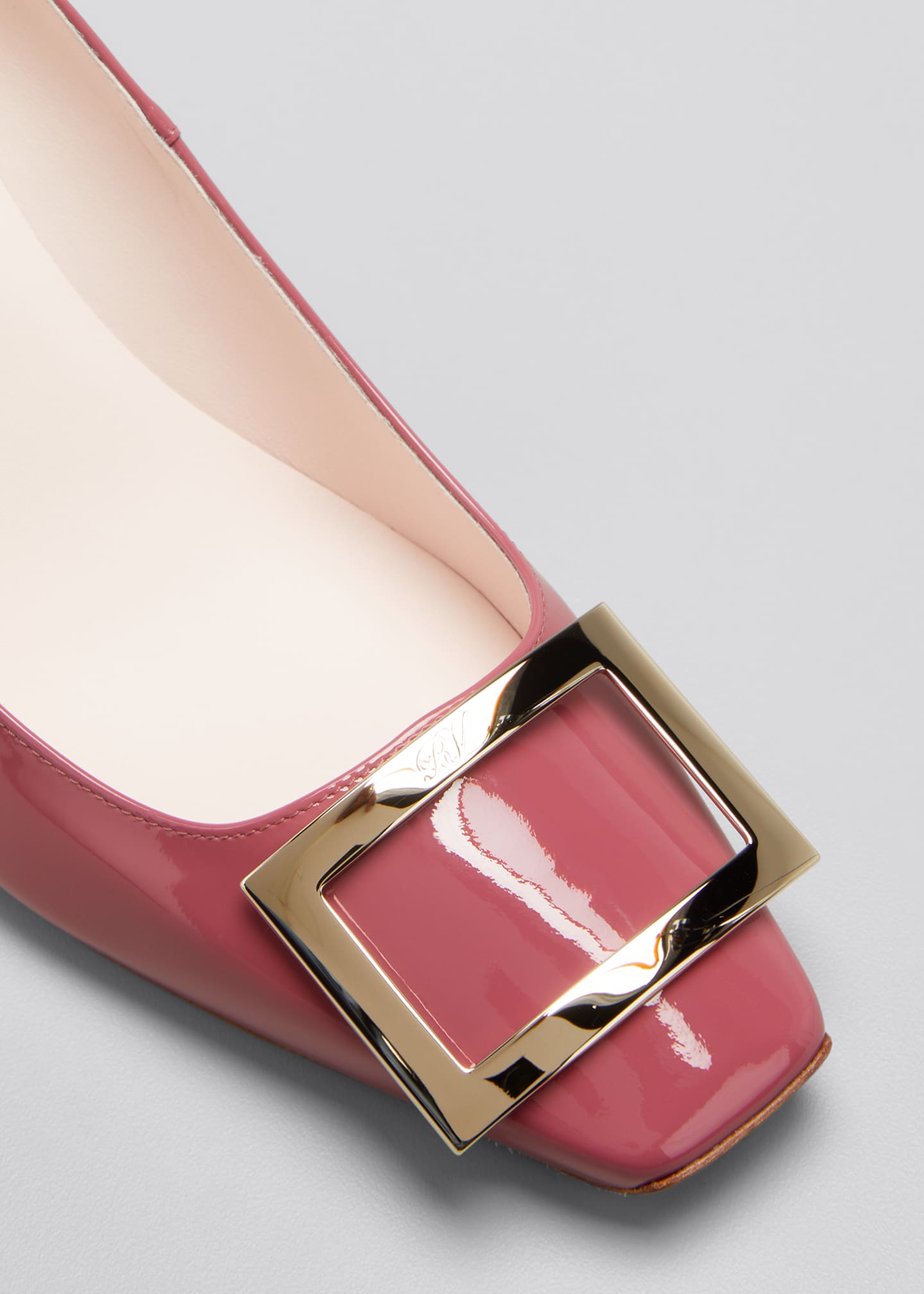 Image 5 of 5: Belle Patent Buckle Pumps