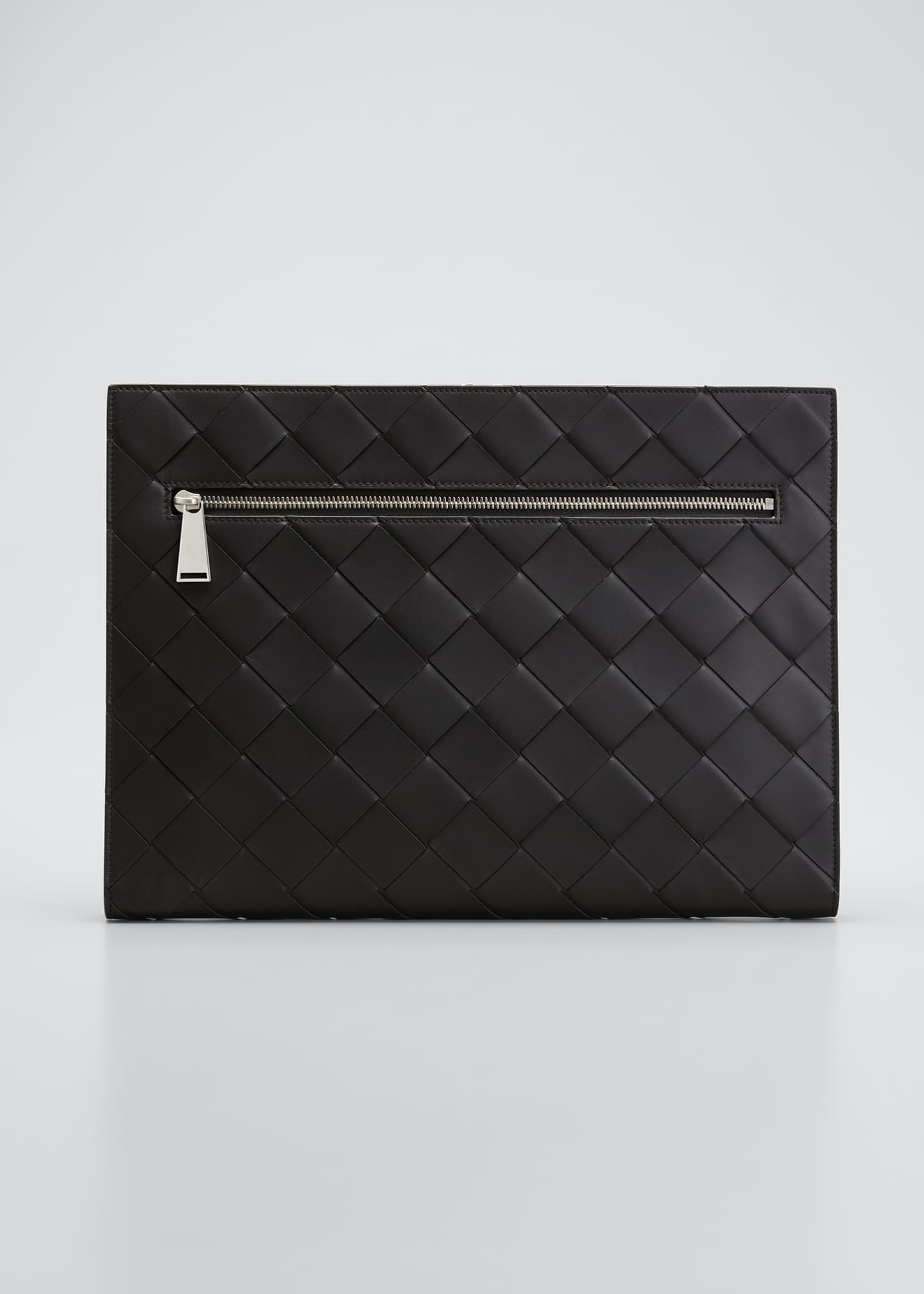 Image 1 of 5: Men's Large Woven Leather Portfolio Case