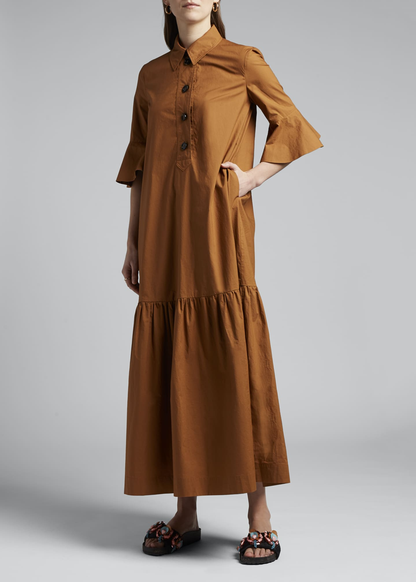 Image 3 of 4: Artemis Canvas Shirtdress