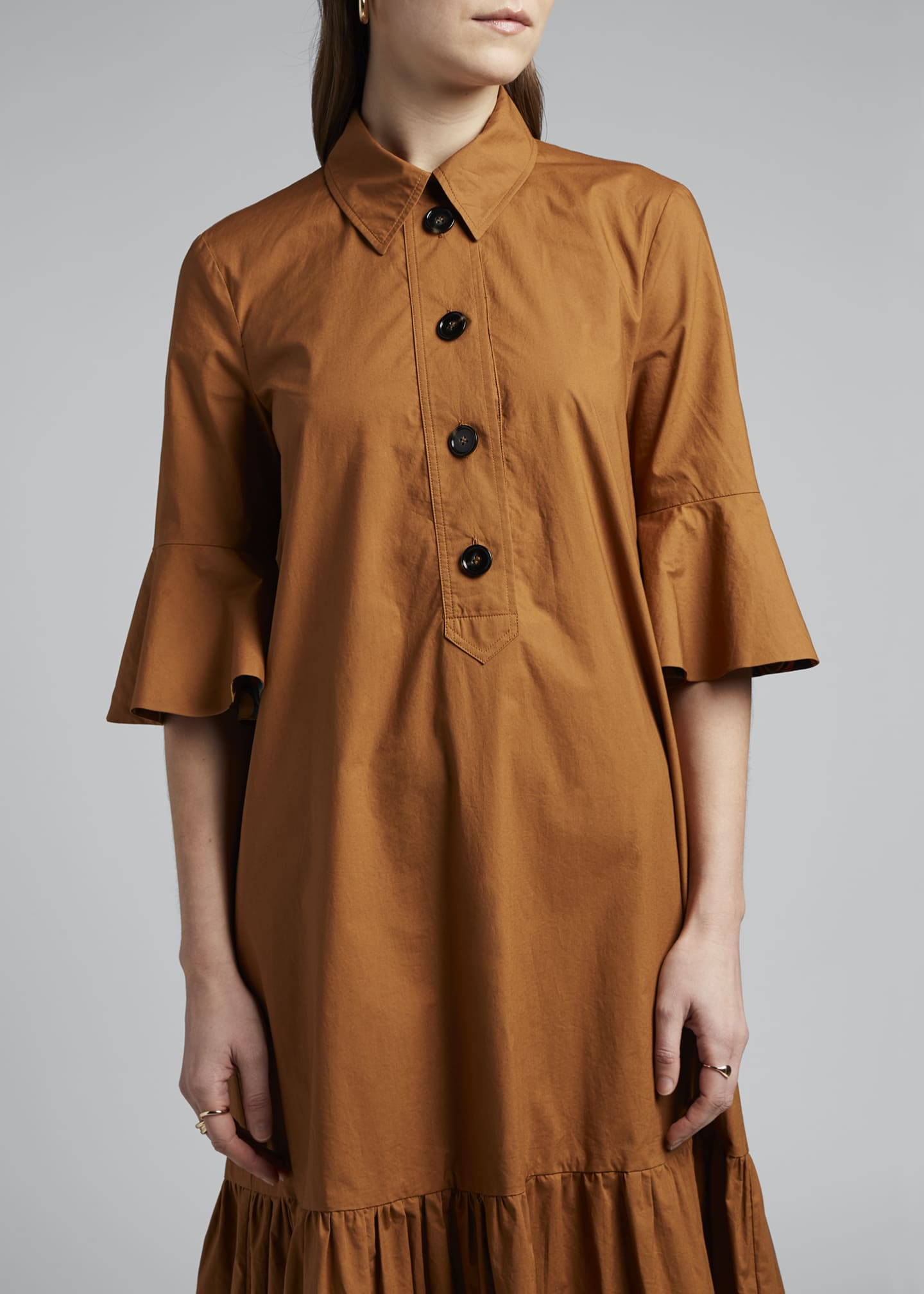 Image 4 of 4: Artemis Canvas Shirtdress