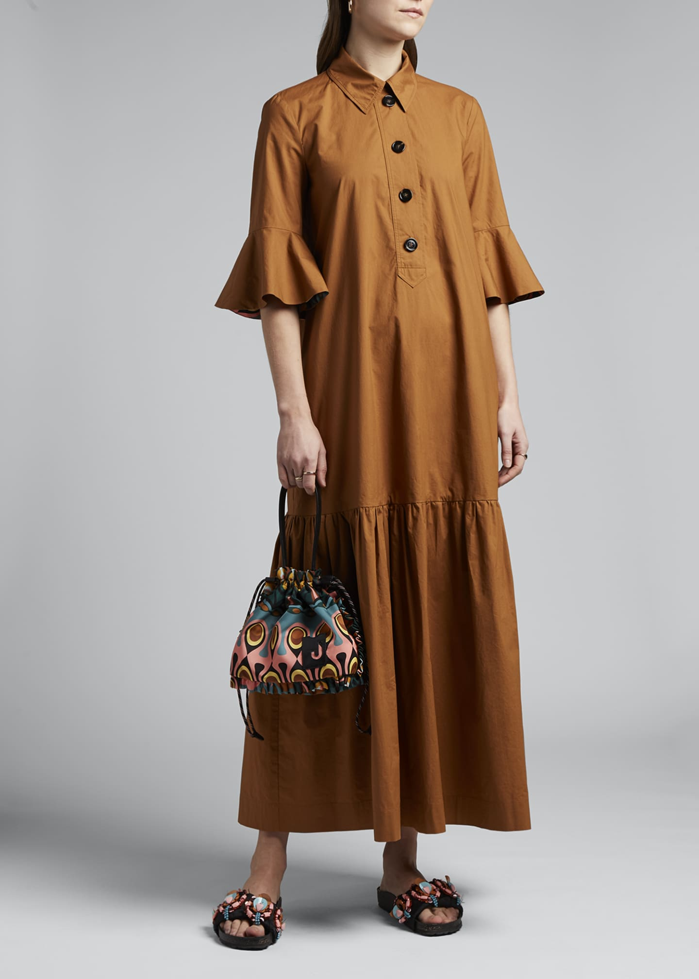 Image 1 of 4: Artemis Canvas Shirtdress