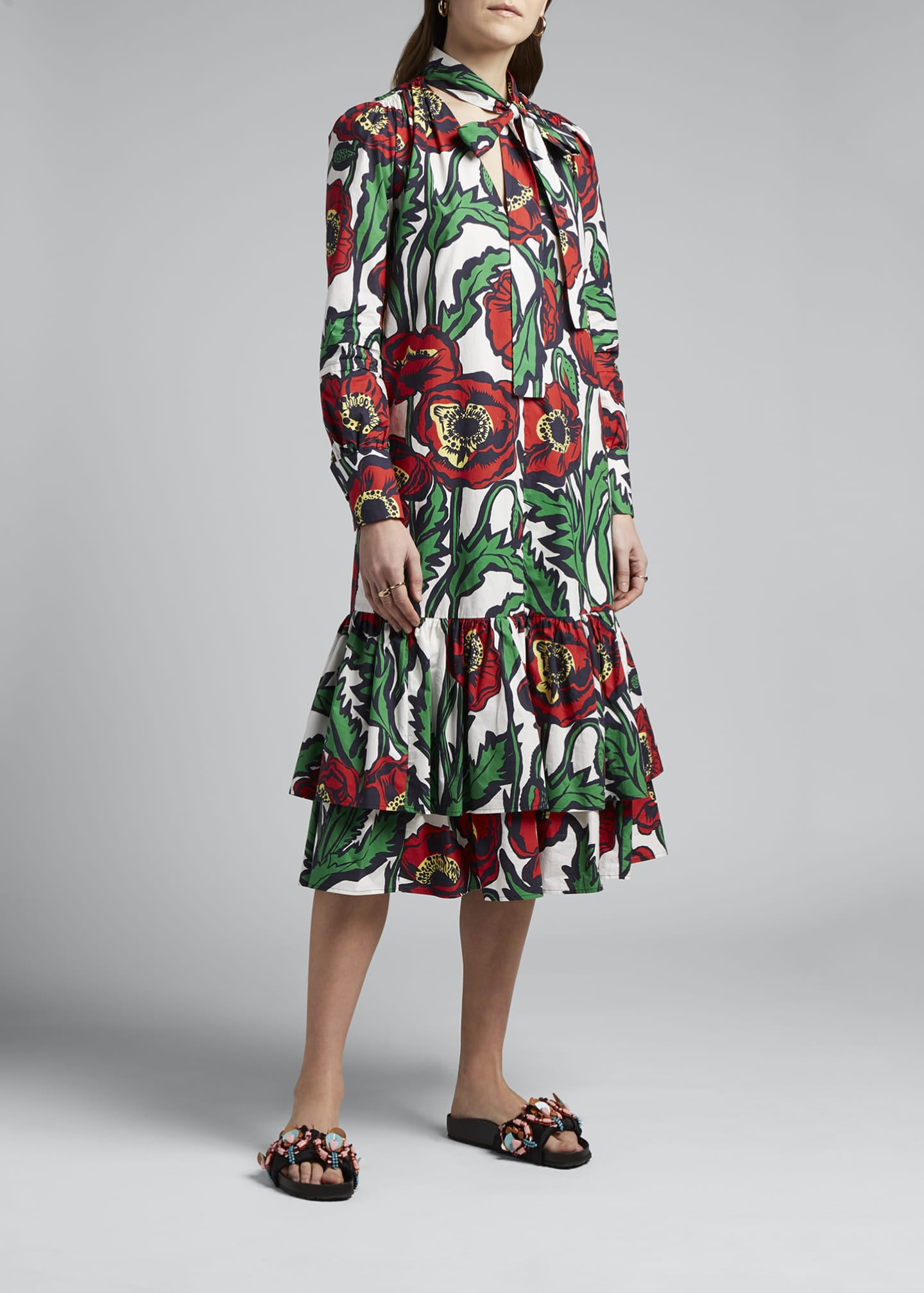 Image 3 of 4: Good Witch Floral Print Dress