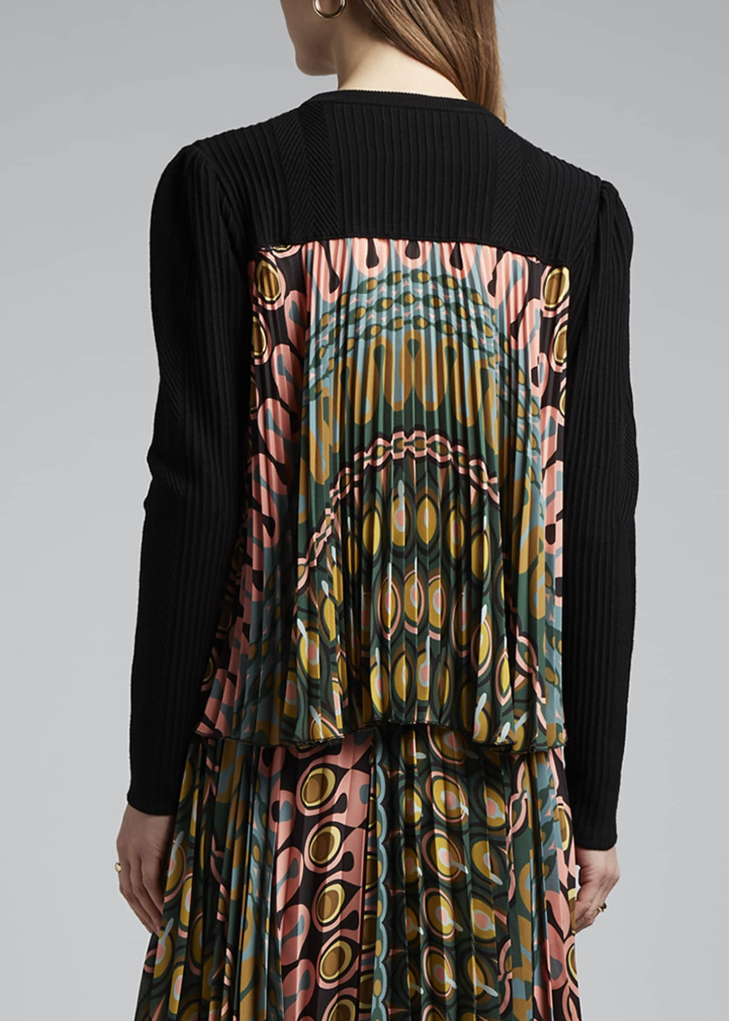 Image 2 of 3: Pleated Back Super Sweater