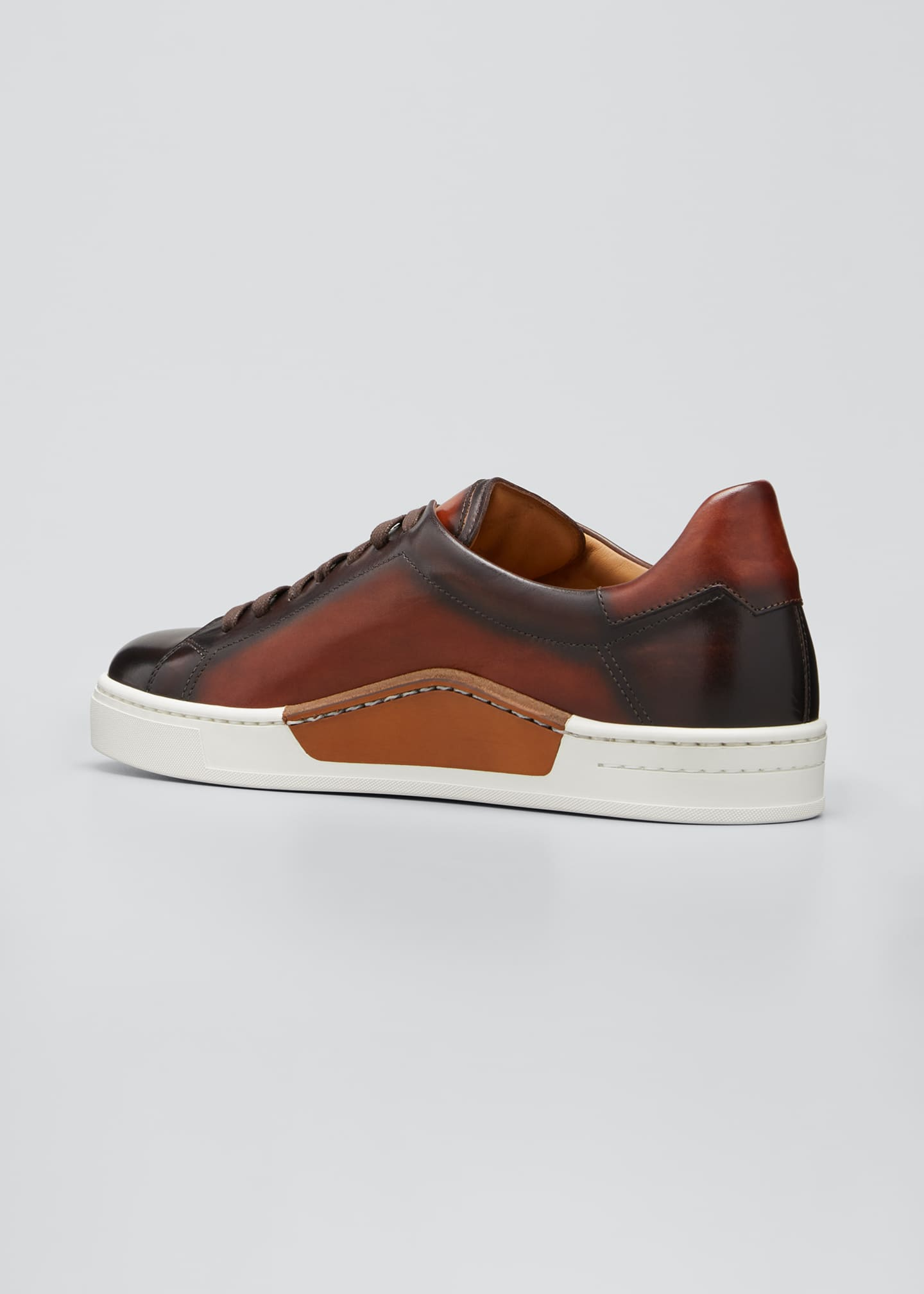 Image 2 of 3: Men's Ottawa Burnished Leather Sneakers