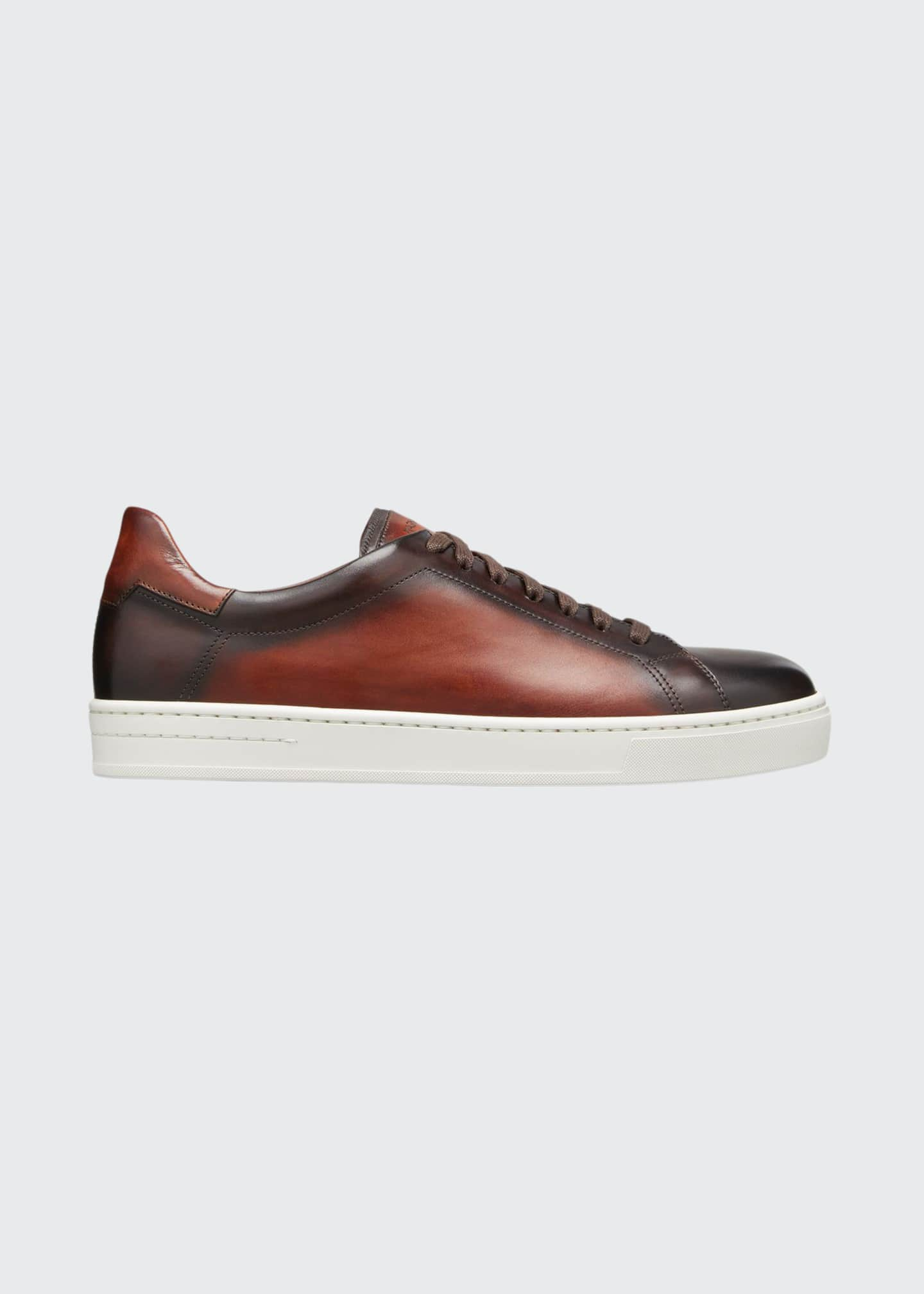 Image 1 of 3: Men's Ottawa Burnished Leather Sneakers