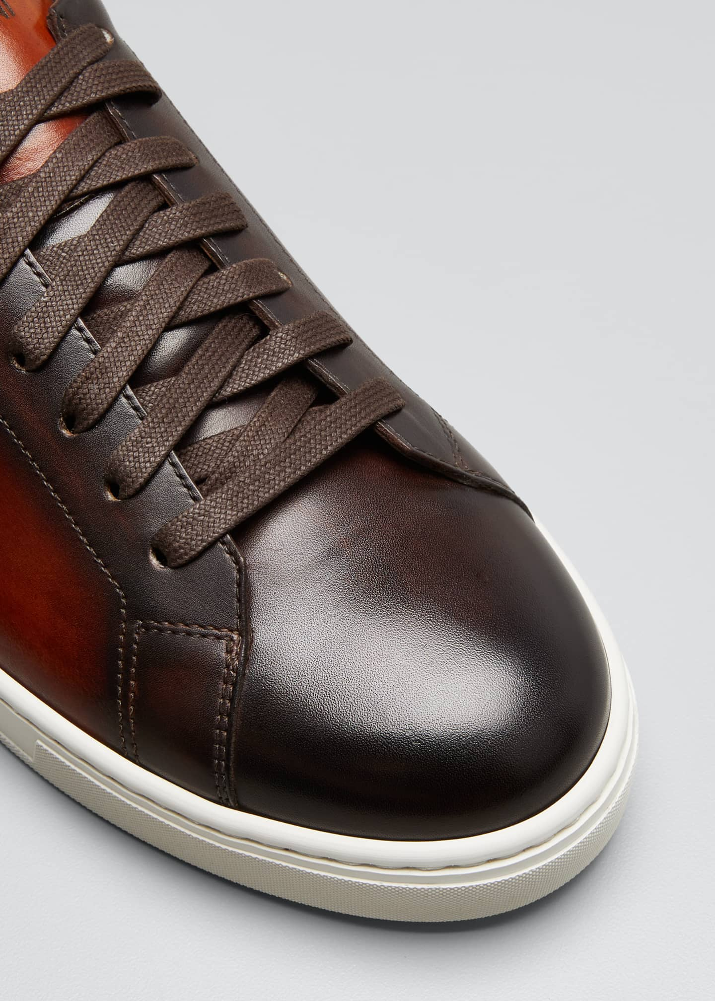 Image 3 of 3: Men's Ottawa Burnished Leather Sneakers