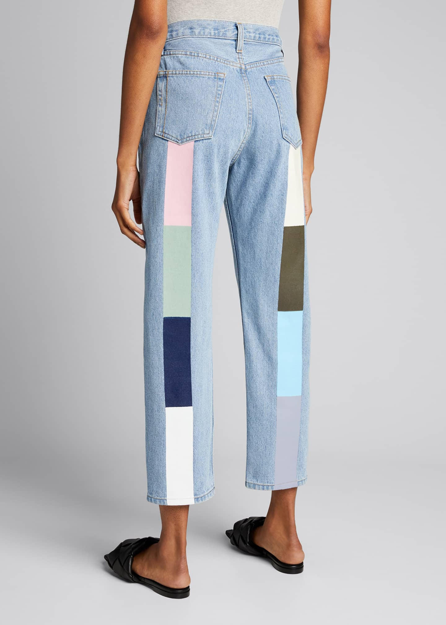 Image 1 of 5: Pastel Rainbow Tate Crop Jeans