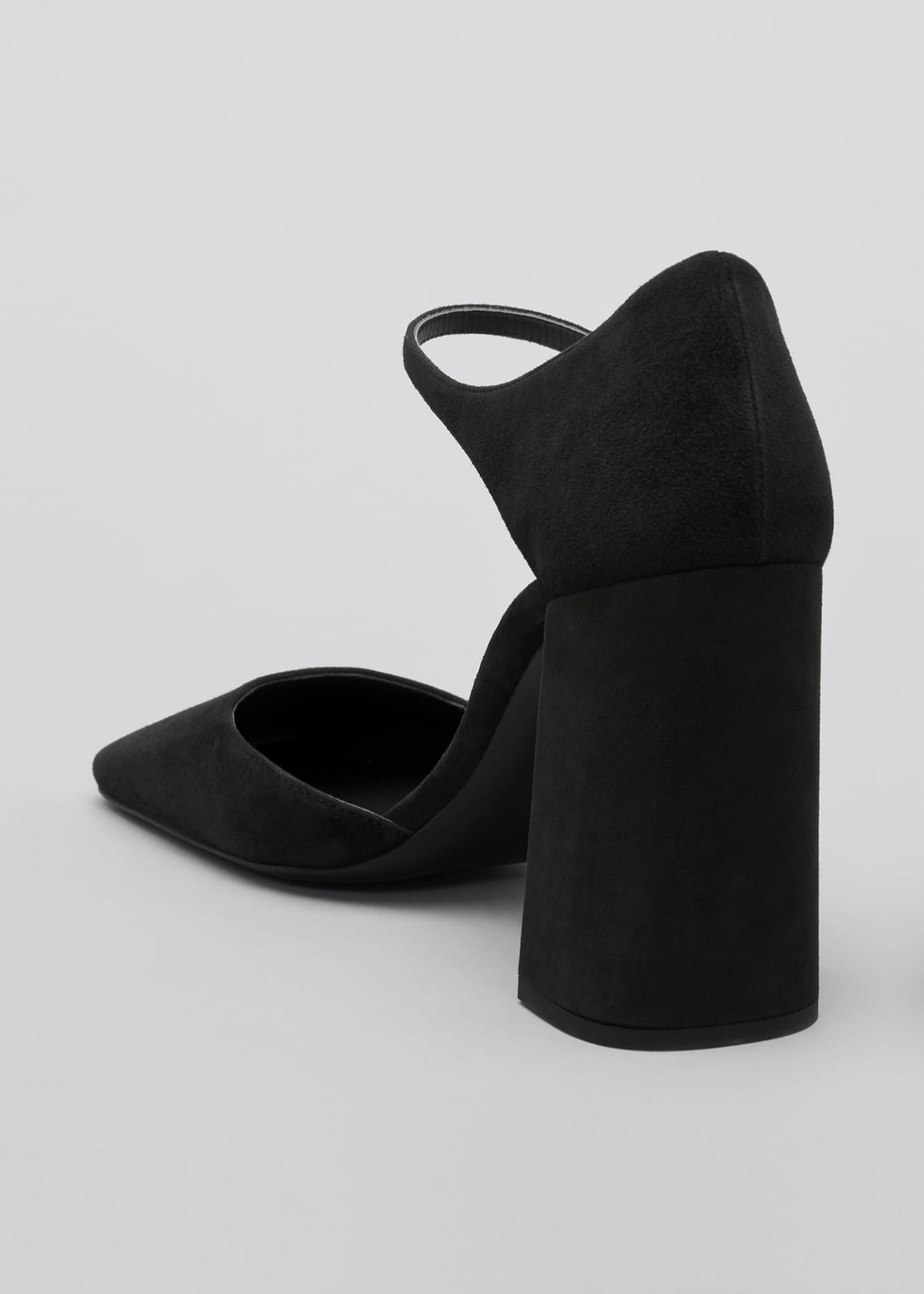 Image 2 of 3: 95mm Suede Square-Toe Mary Jane Pumps