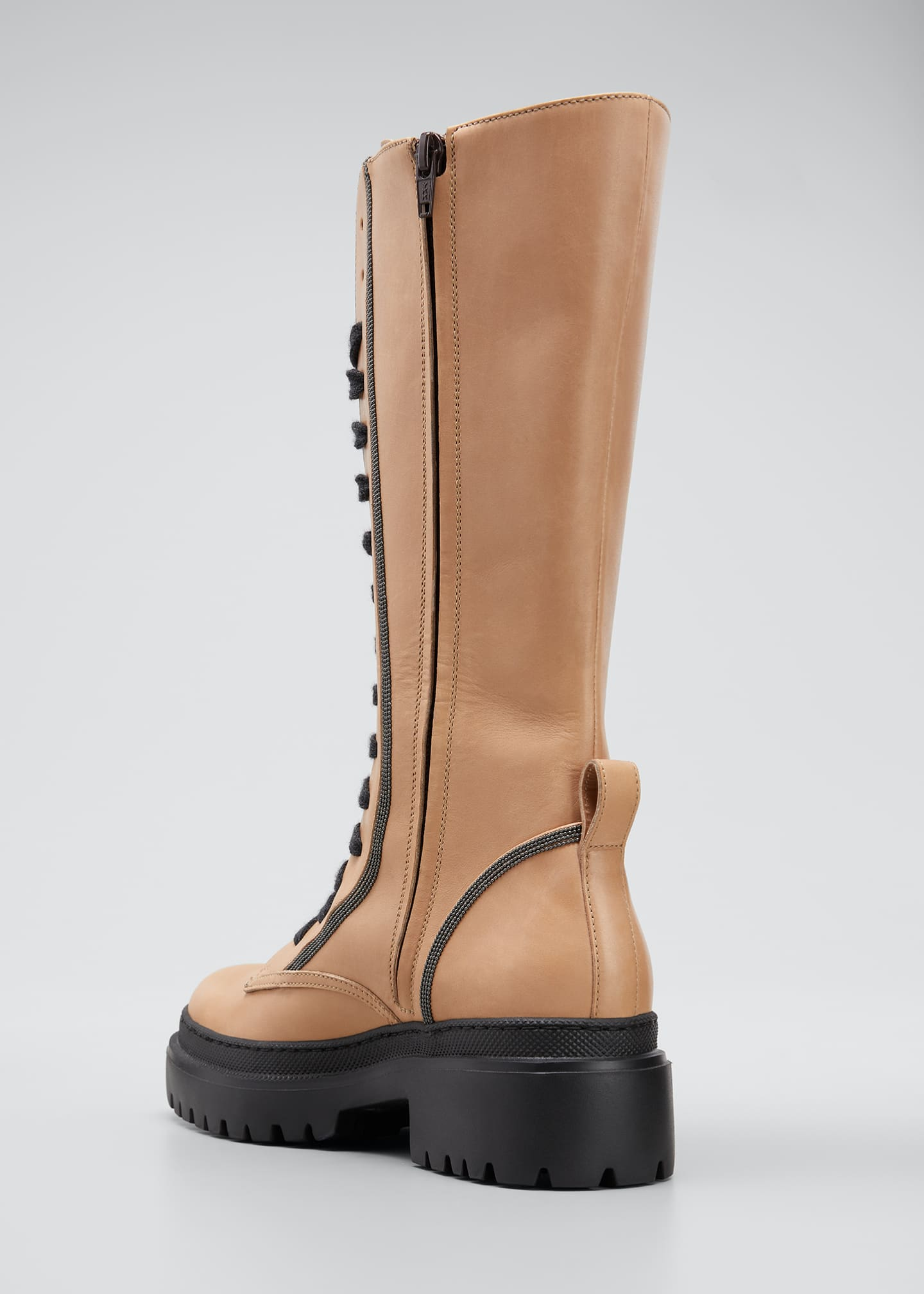 Image 2 of 3: Tall Monili Calf Hiking Boots