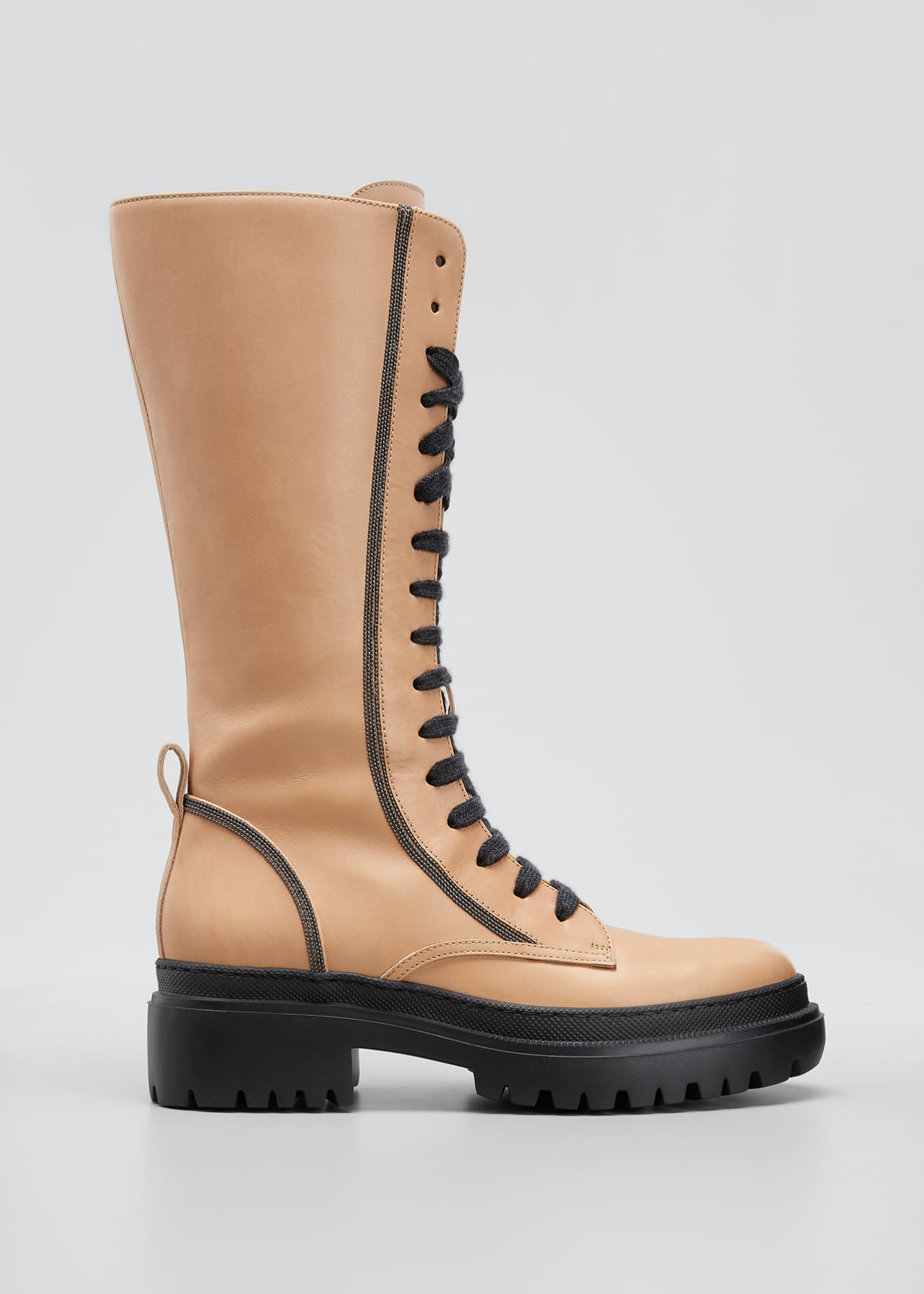 Image 1 of 3: Tall Monili Calf Hiking Boots