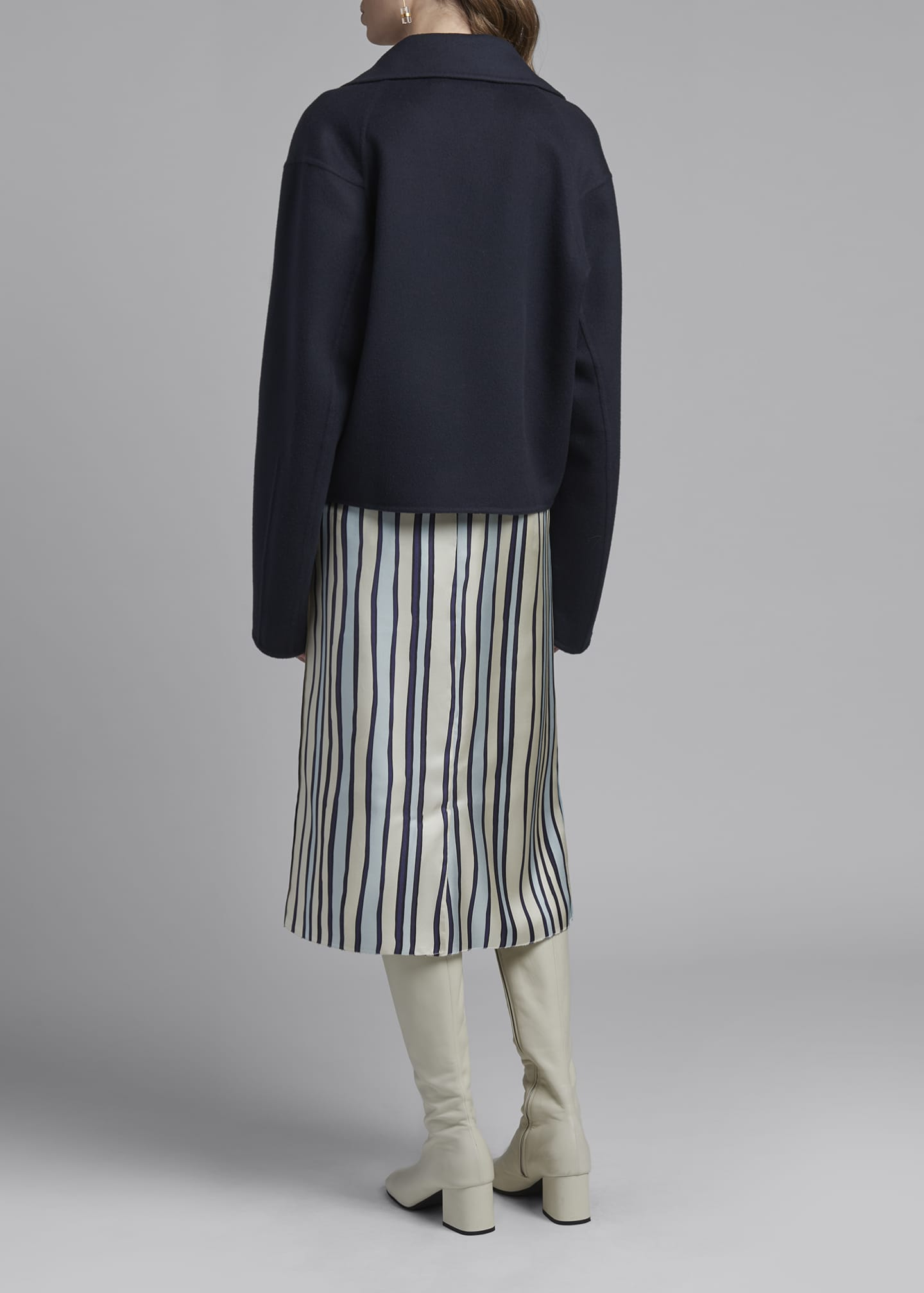 Image 2 of 3: Wool-Cashmere Cropped Sweater Jacket