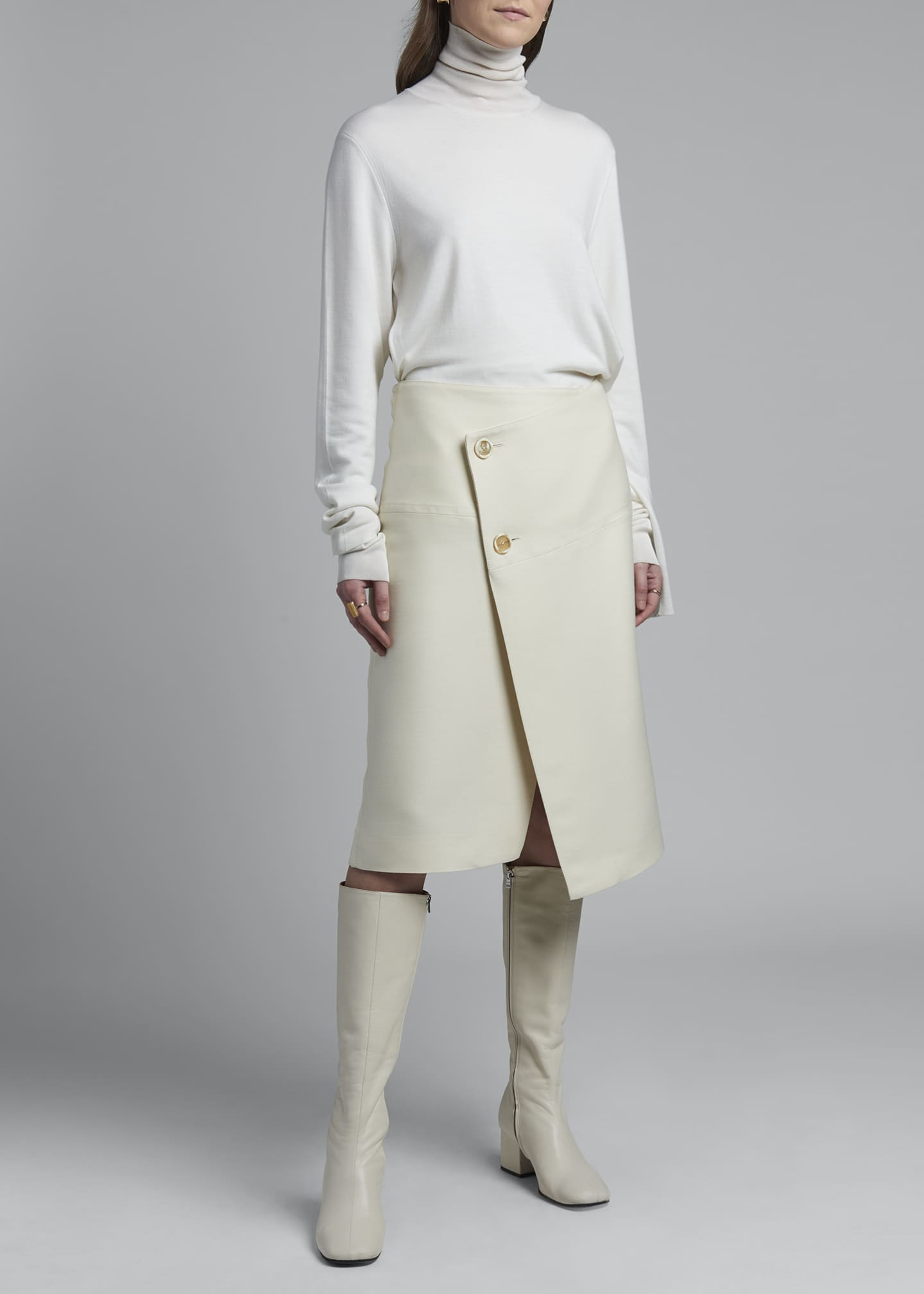 Image 1 of 3: Wool Envelope Skirt