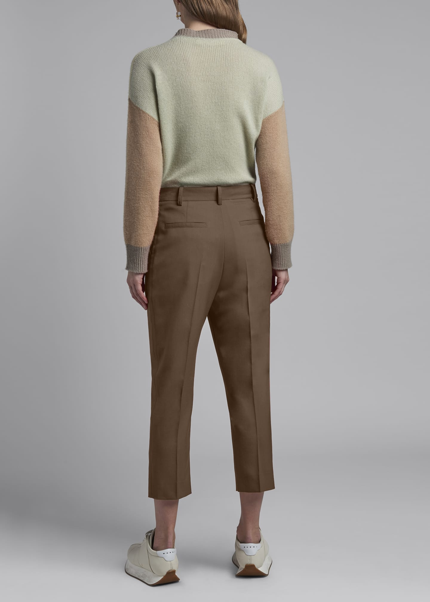 Image 2 of 3: Cropped Tropical Wool Trousers