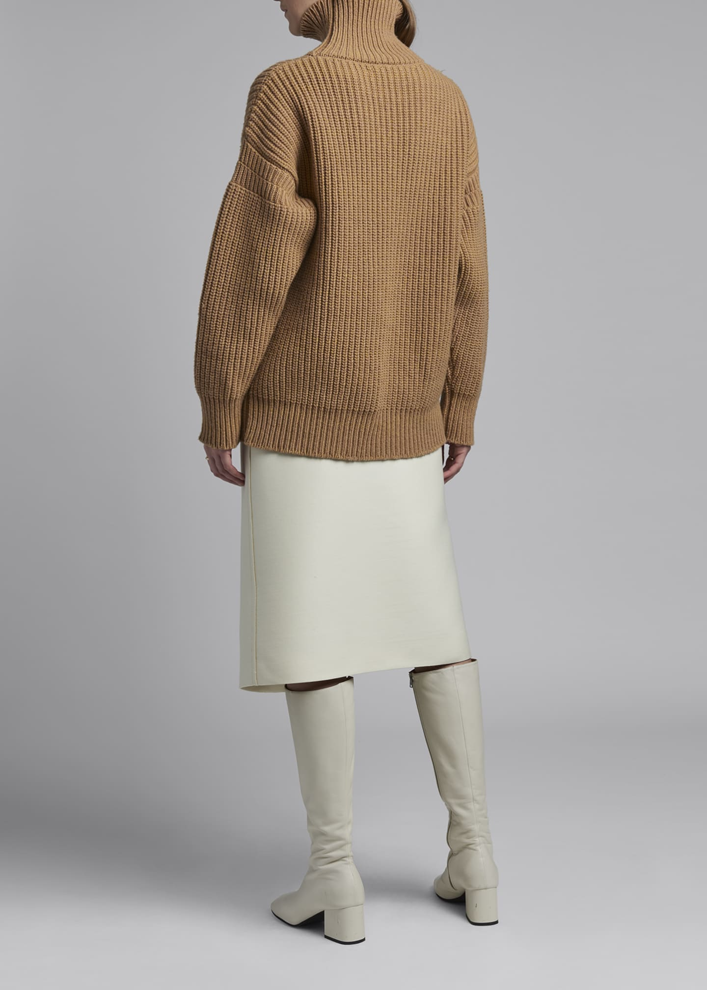 Image 2 of 3: Wool Turtleneck Sweater