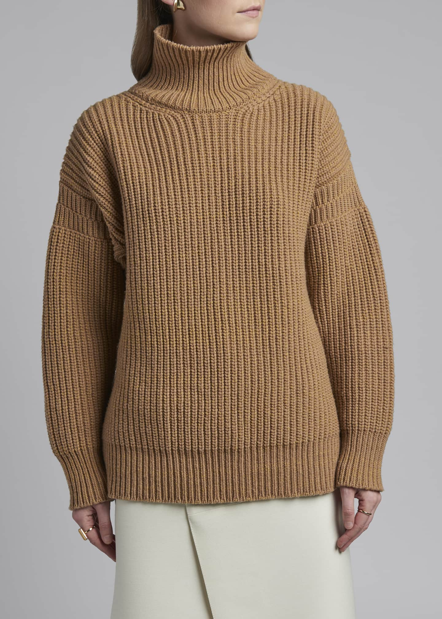 Image 3 of 3: Wool Turtleneck Sweater