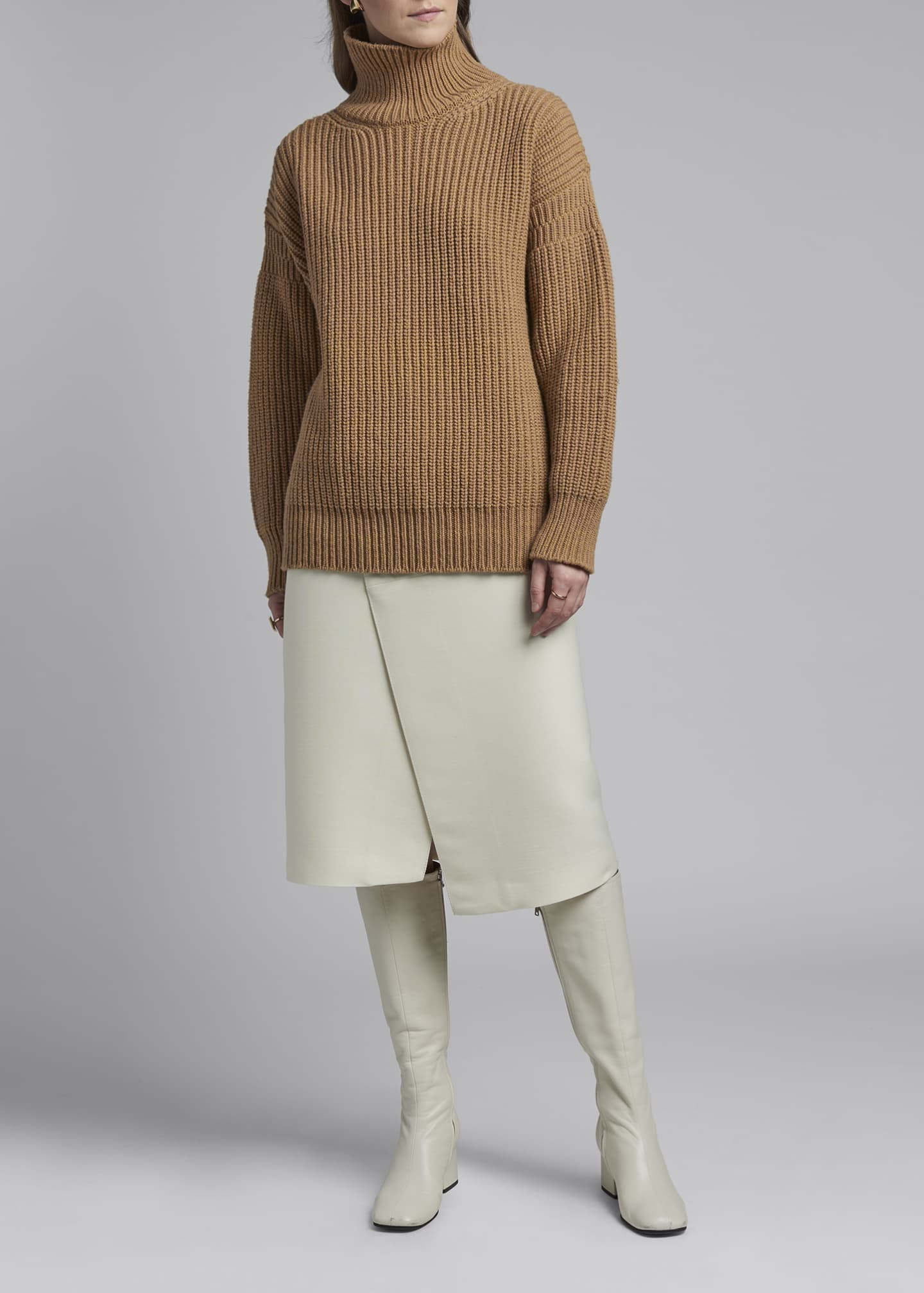 Image 1 of 3: Wool Turtleneck Sweater