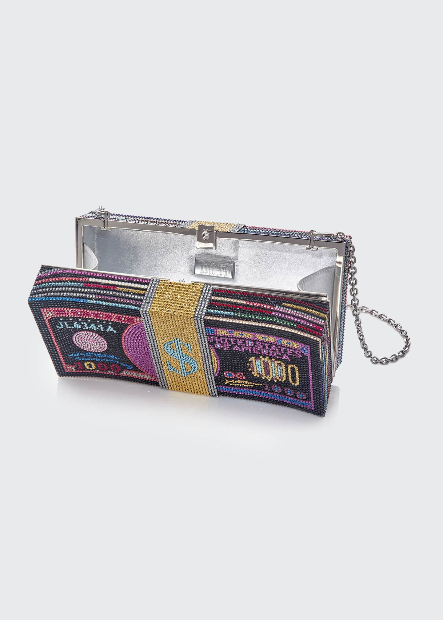 Image 2 of 2: Stack Of Cash Funny Money Clutch Bag