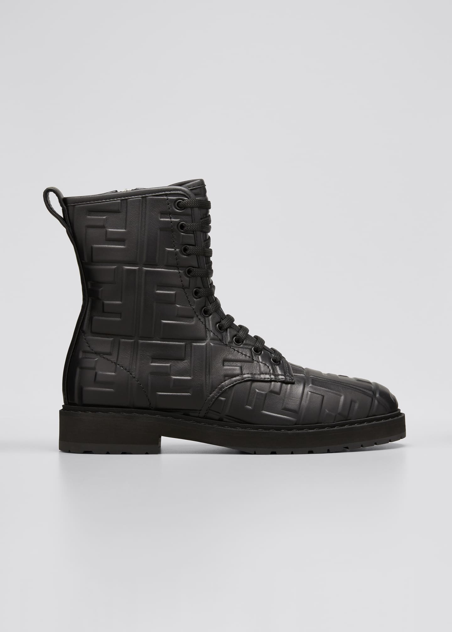 Image 1 of 3: FF Logo Leather Combat Booties