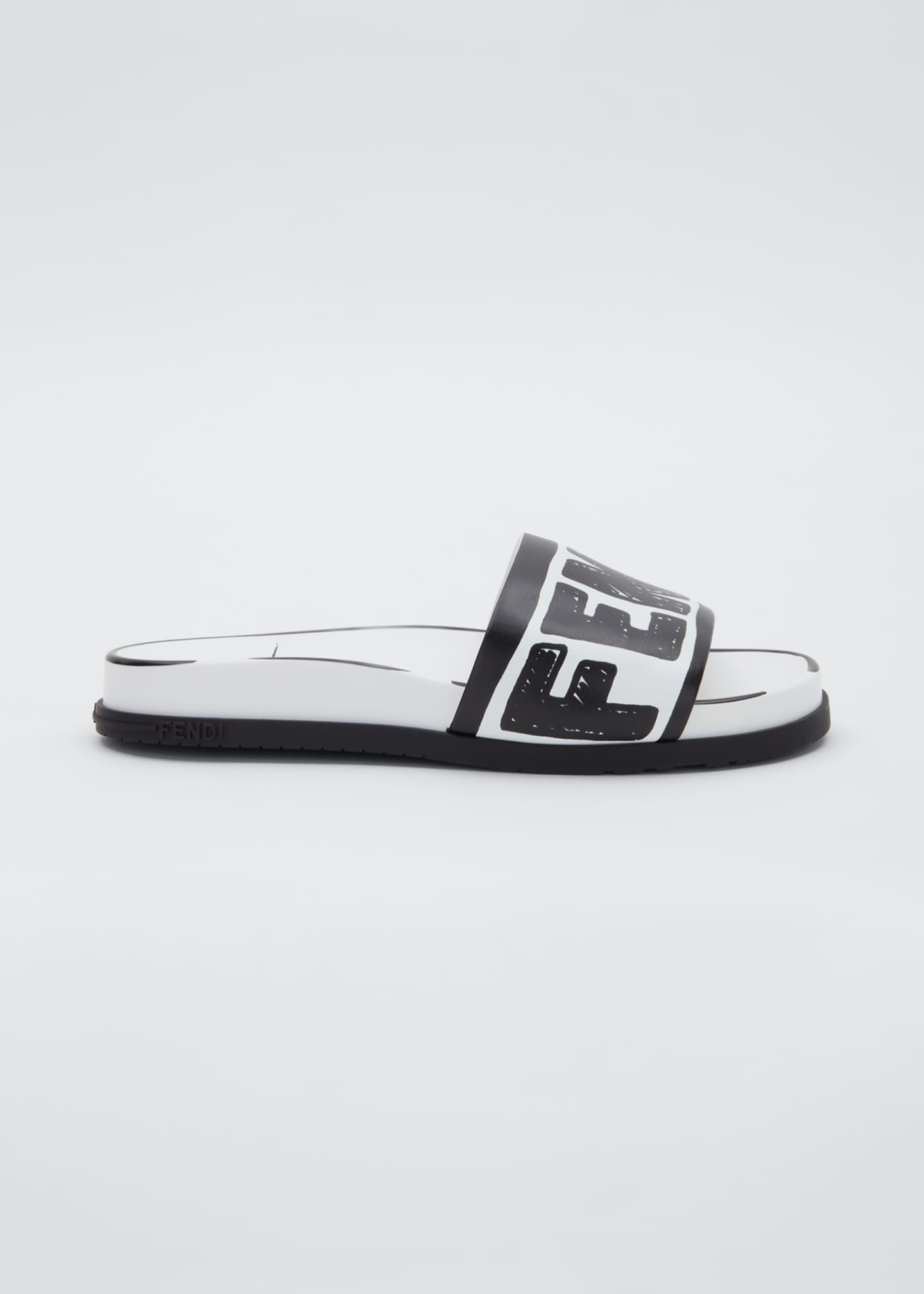 Image 1 of 3: Logo Pool Flat Slide Sandals