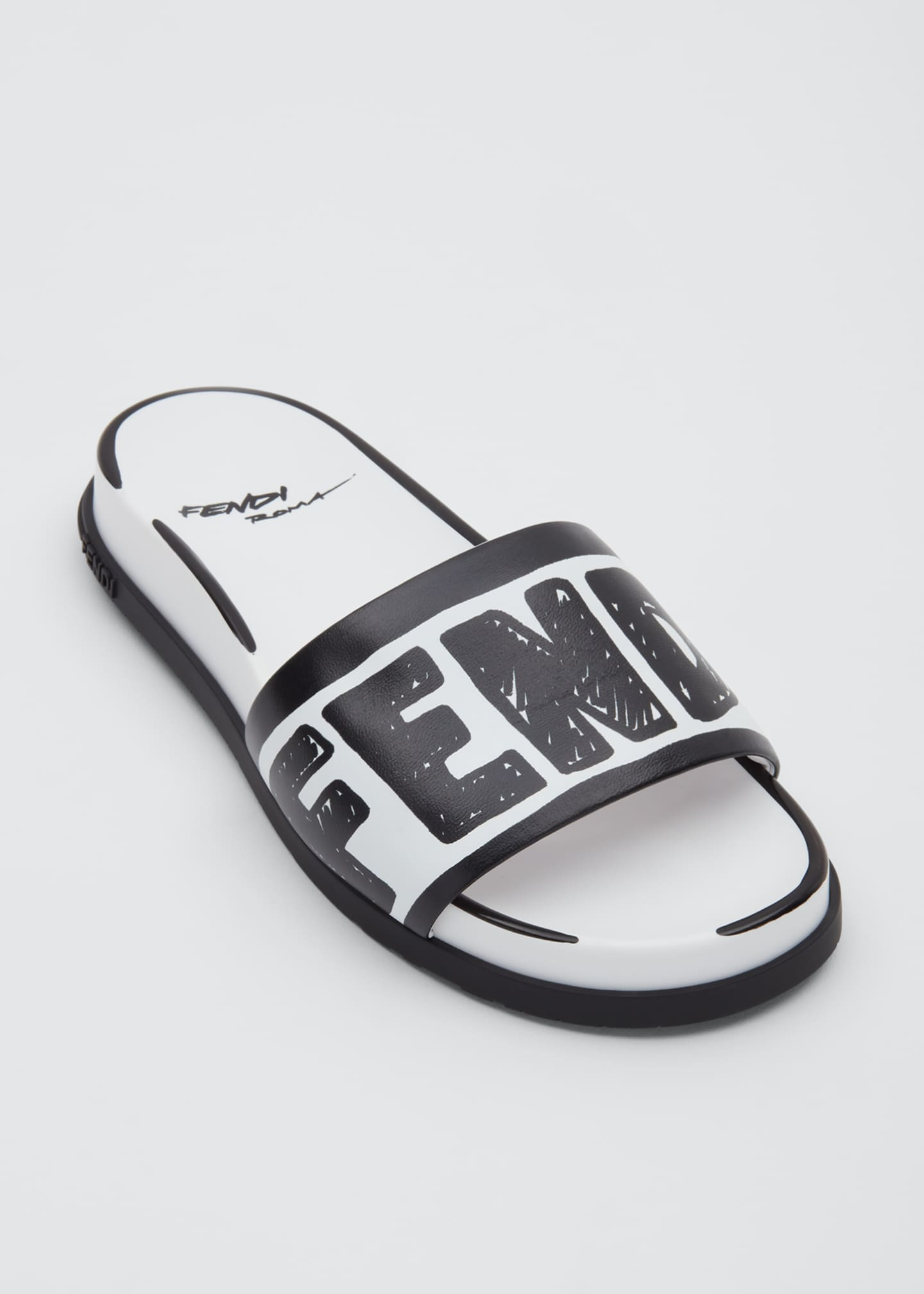 Image 3 of 3: Logo Pool Flat Slide Sandals