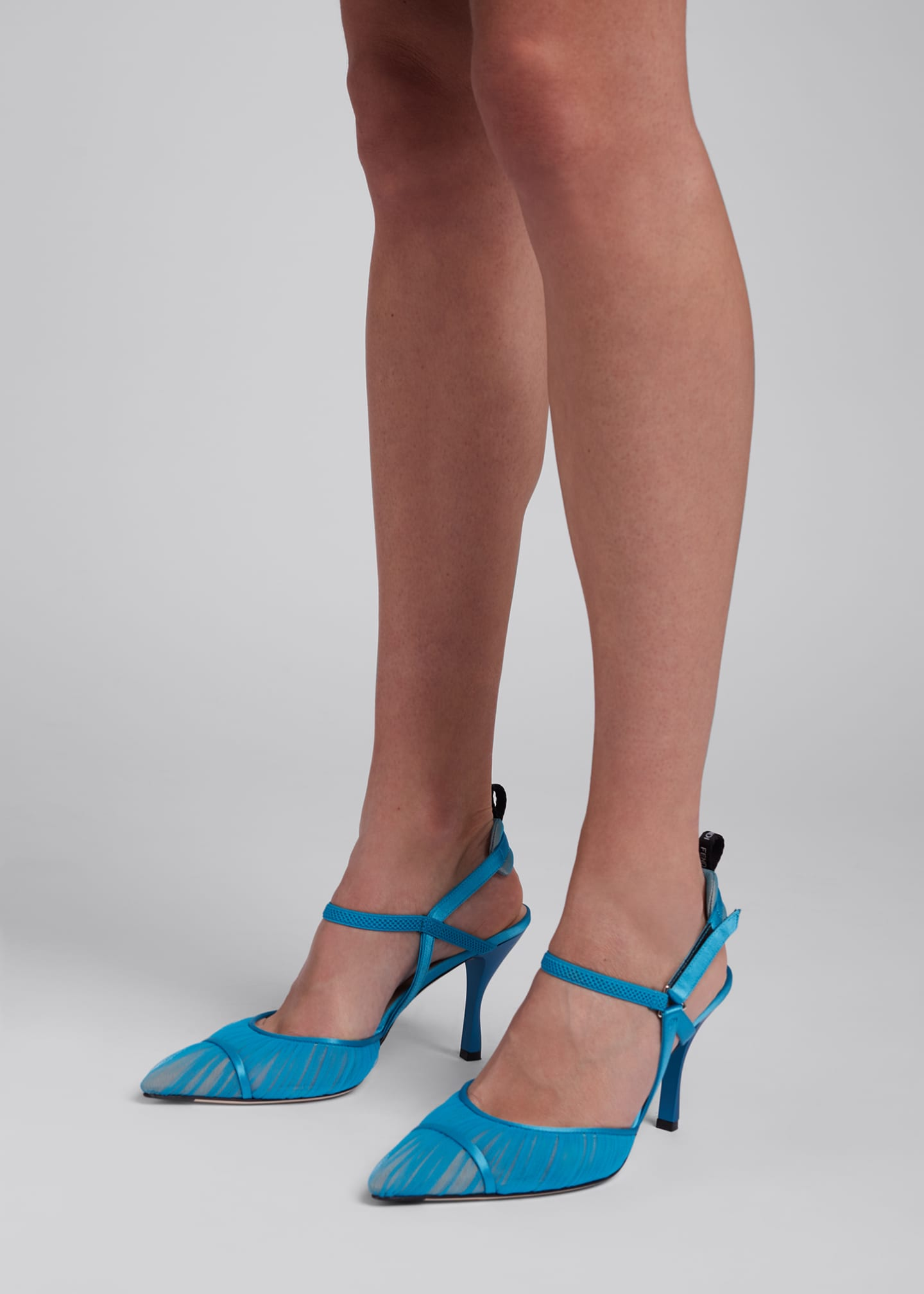 Image 2 of 5: Colibri Ruched Slingback Pumps