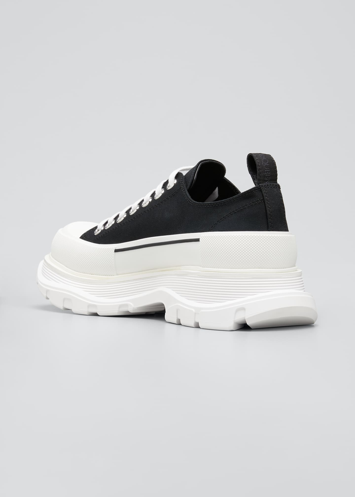 Image 3 of 4: Men's Two-Tone Fabric Sneakers