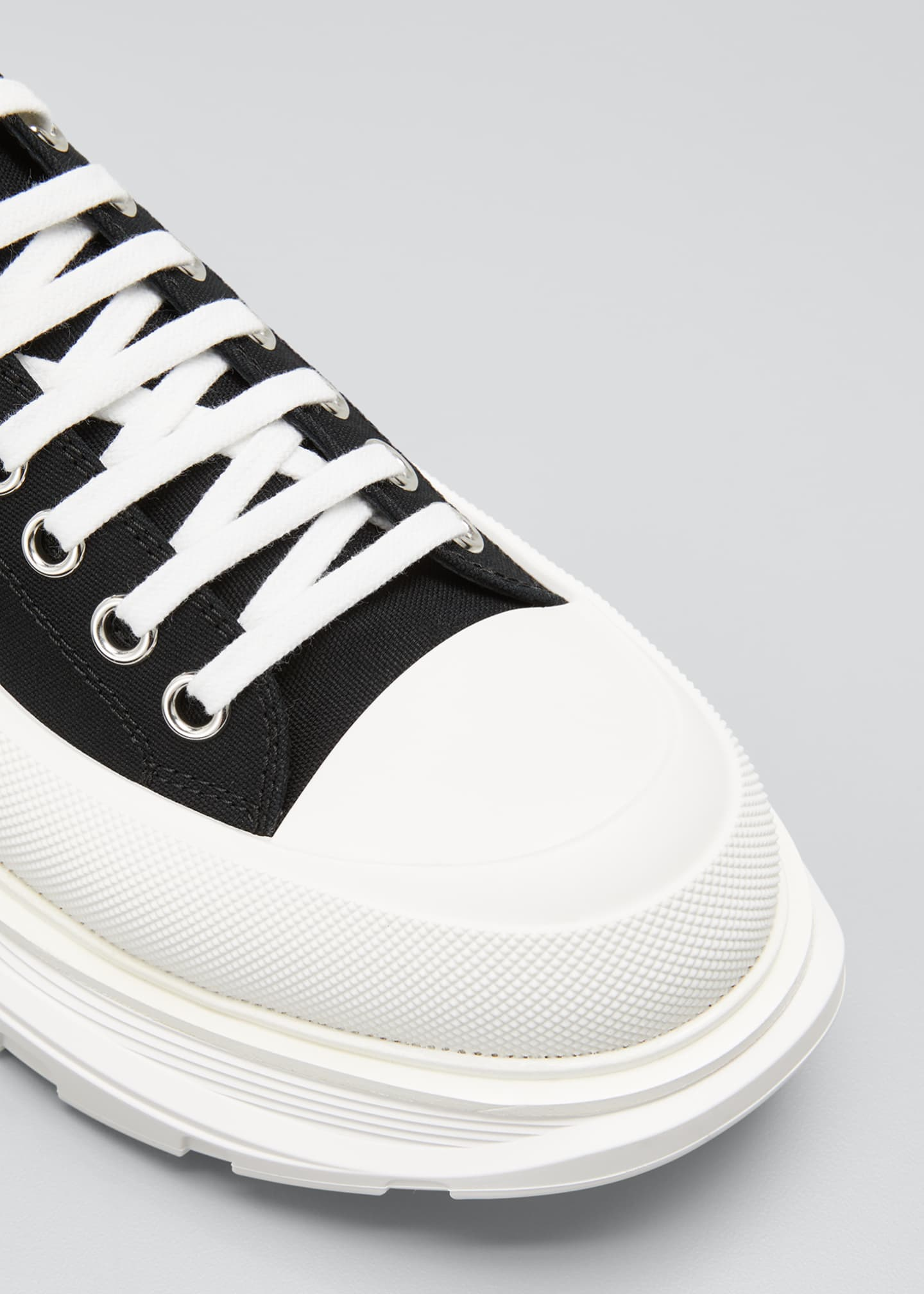 Image 4 of 4: Men's Two-Tone Fabric Sneakers