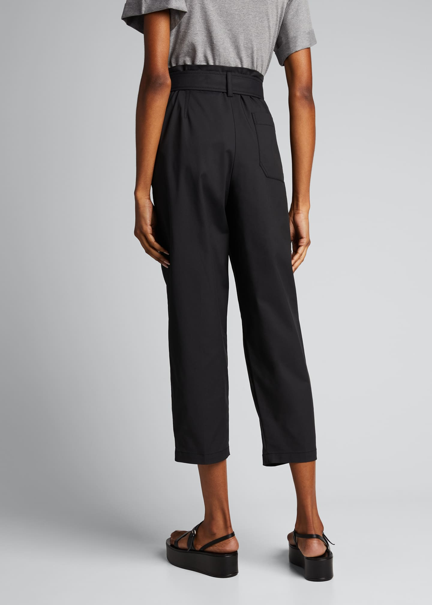 Image 2 of 5: Belted Utility Cropped Pants