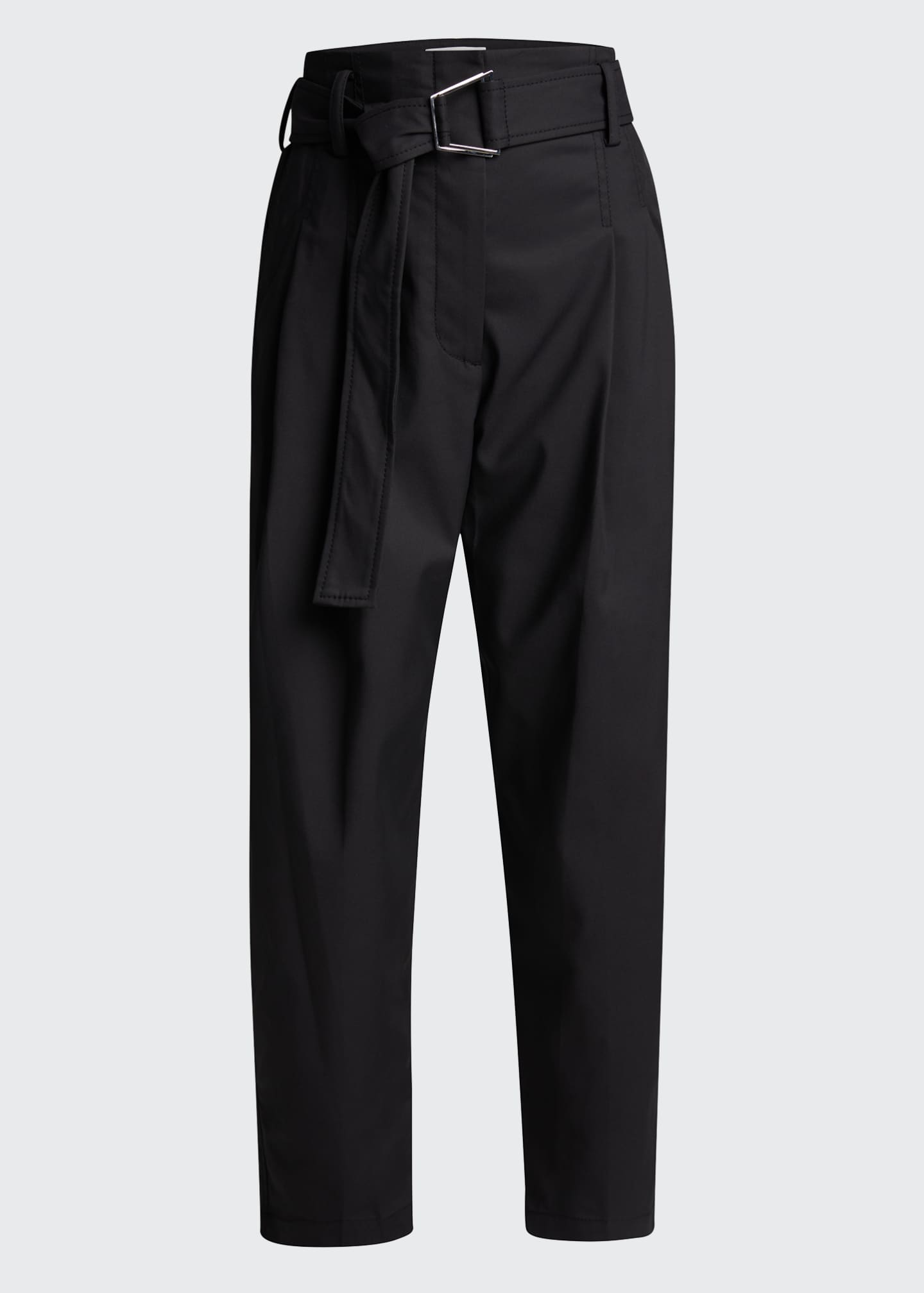 Image 5 of 5: Belted Utility Cropped Pants