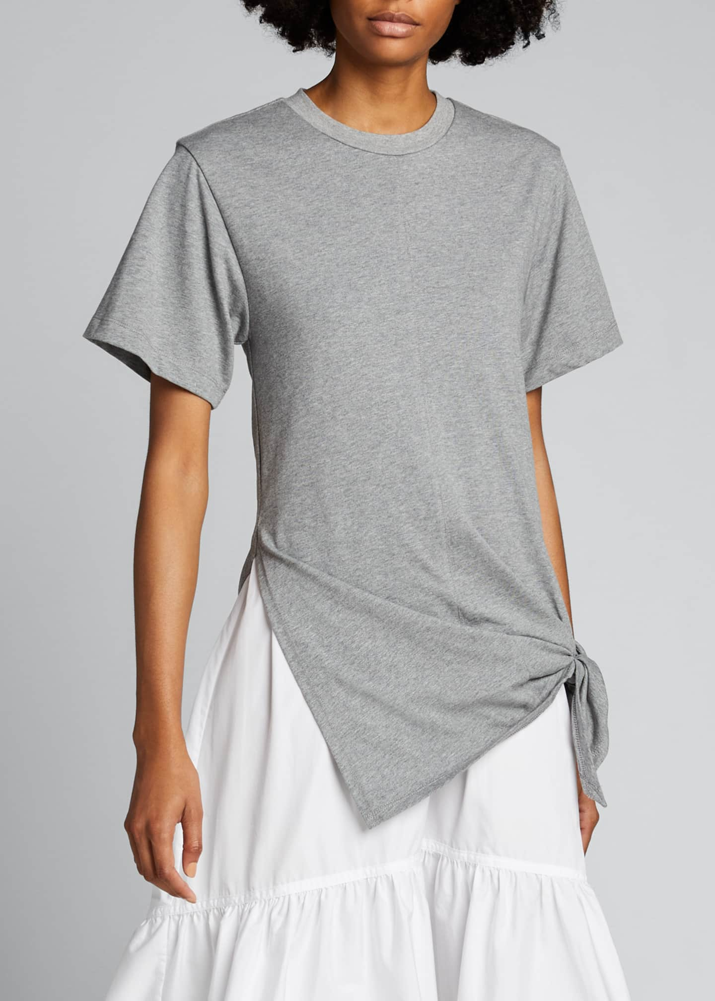 Image 3 of 5: T-Shirt Combo Dress with Side Tie