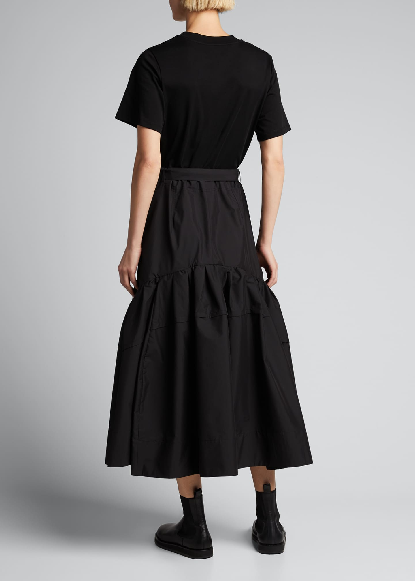 Image 2 of 5: Belted T-Shirt Midi Dress