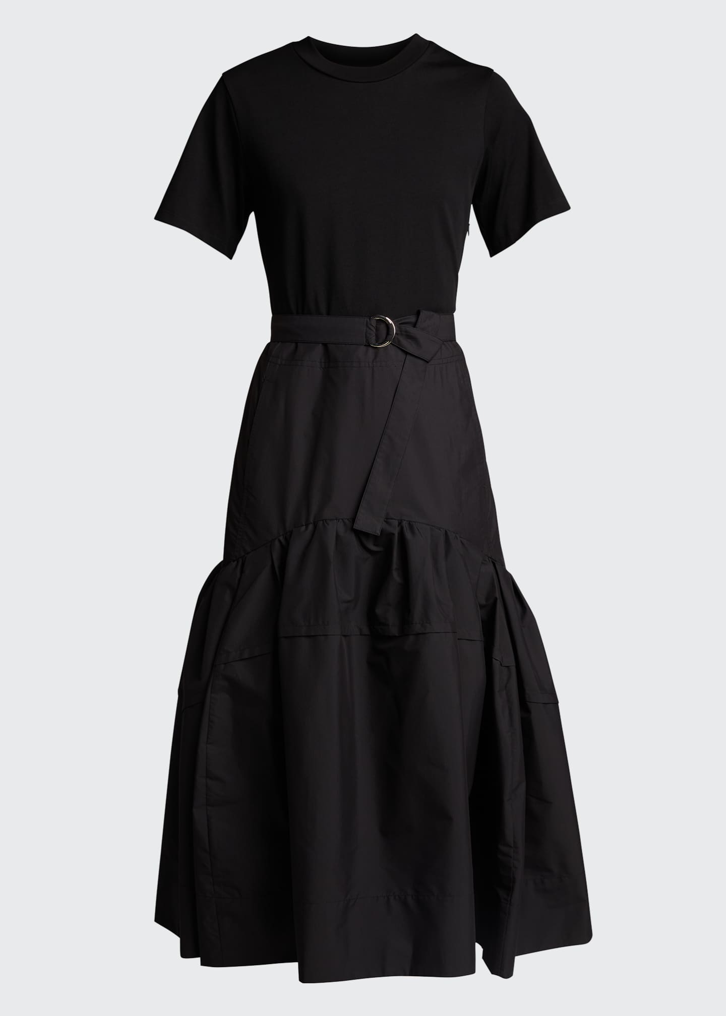 Image 5 of 5: Belted T-Shirt Midi Dress