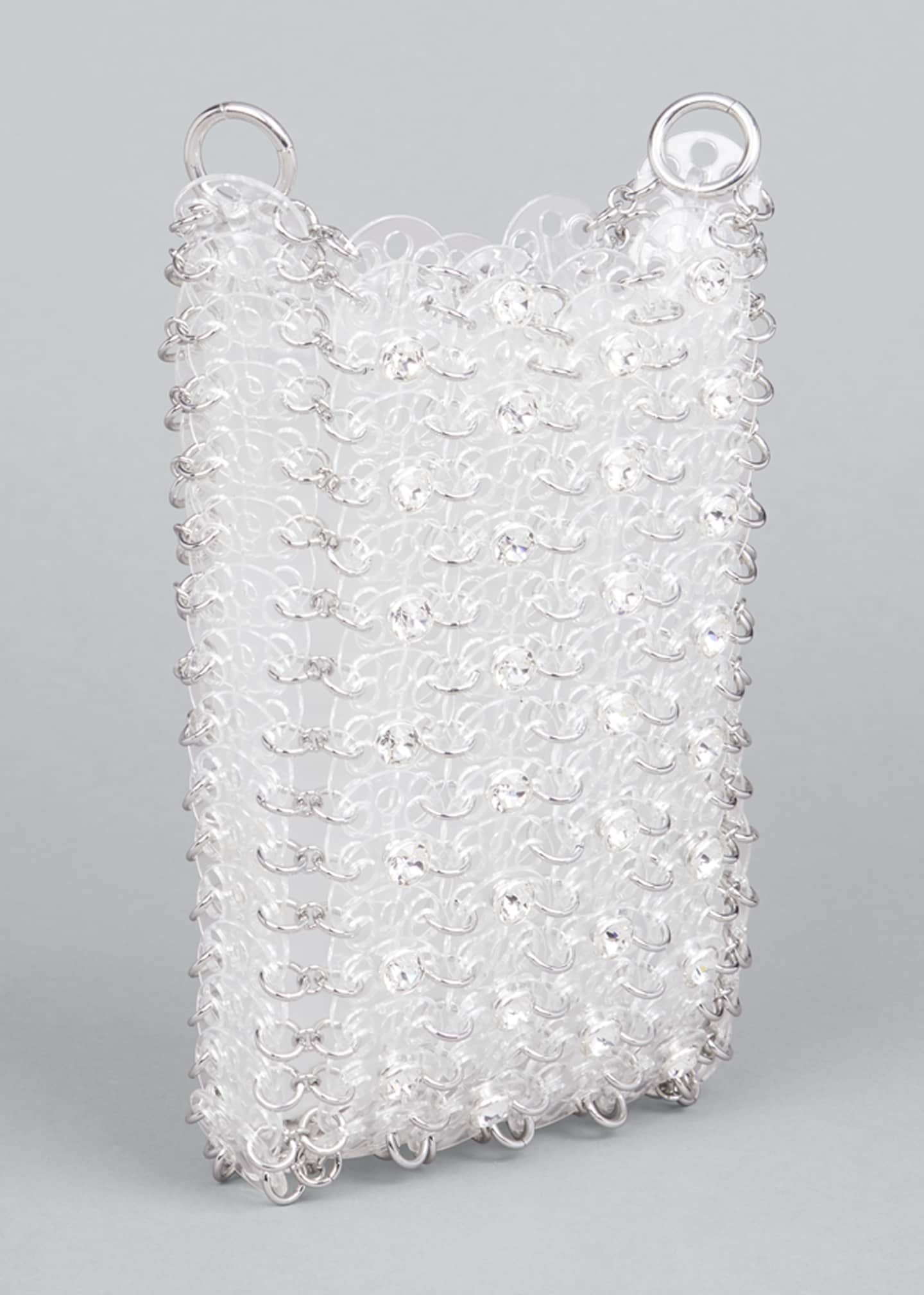 Image 3 of 5: Clear Sequin Chain Shoulder Bag