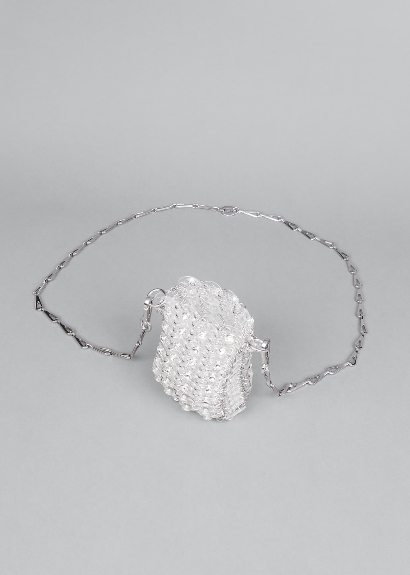 Image 4 of 5: Clear Sequin Chain Shoulder Bag