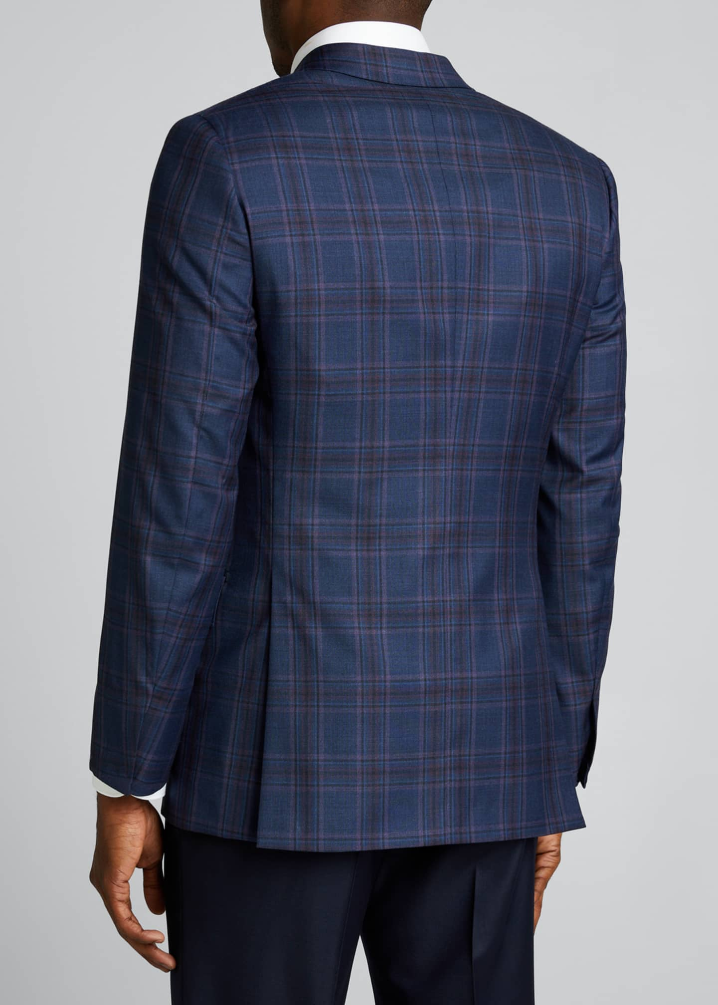 Image 2 of 5: Men's Plaid Wool Sport Jacket