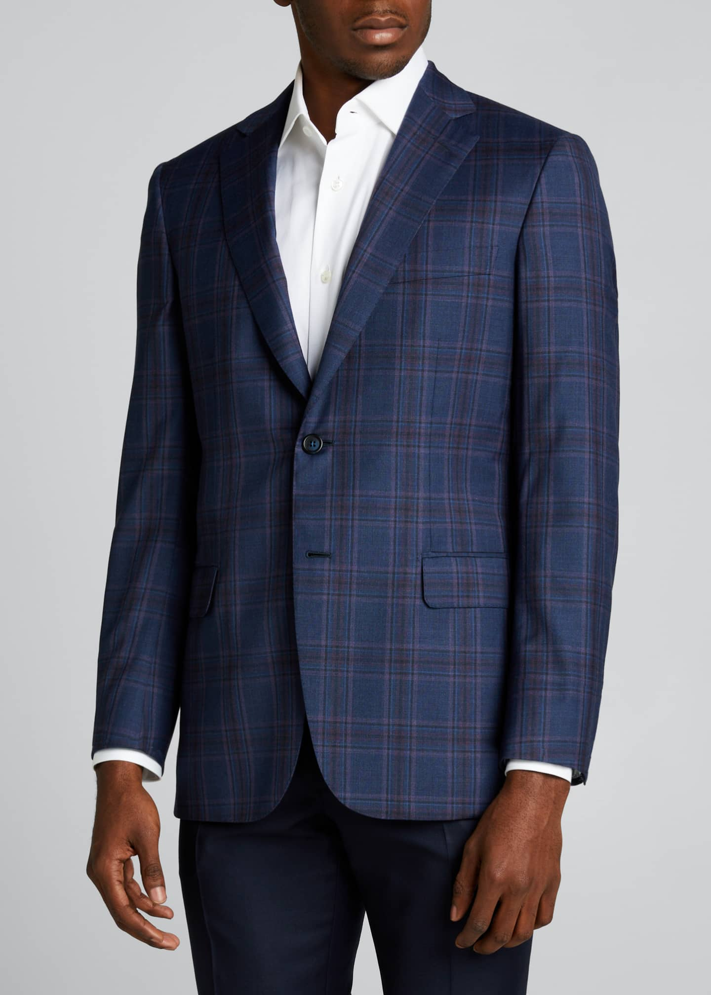 Image 3 of 5: Men's Plaid Wool Sport Jacket