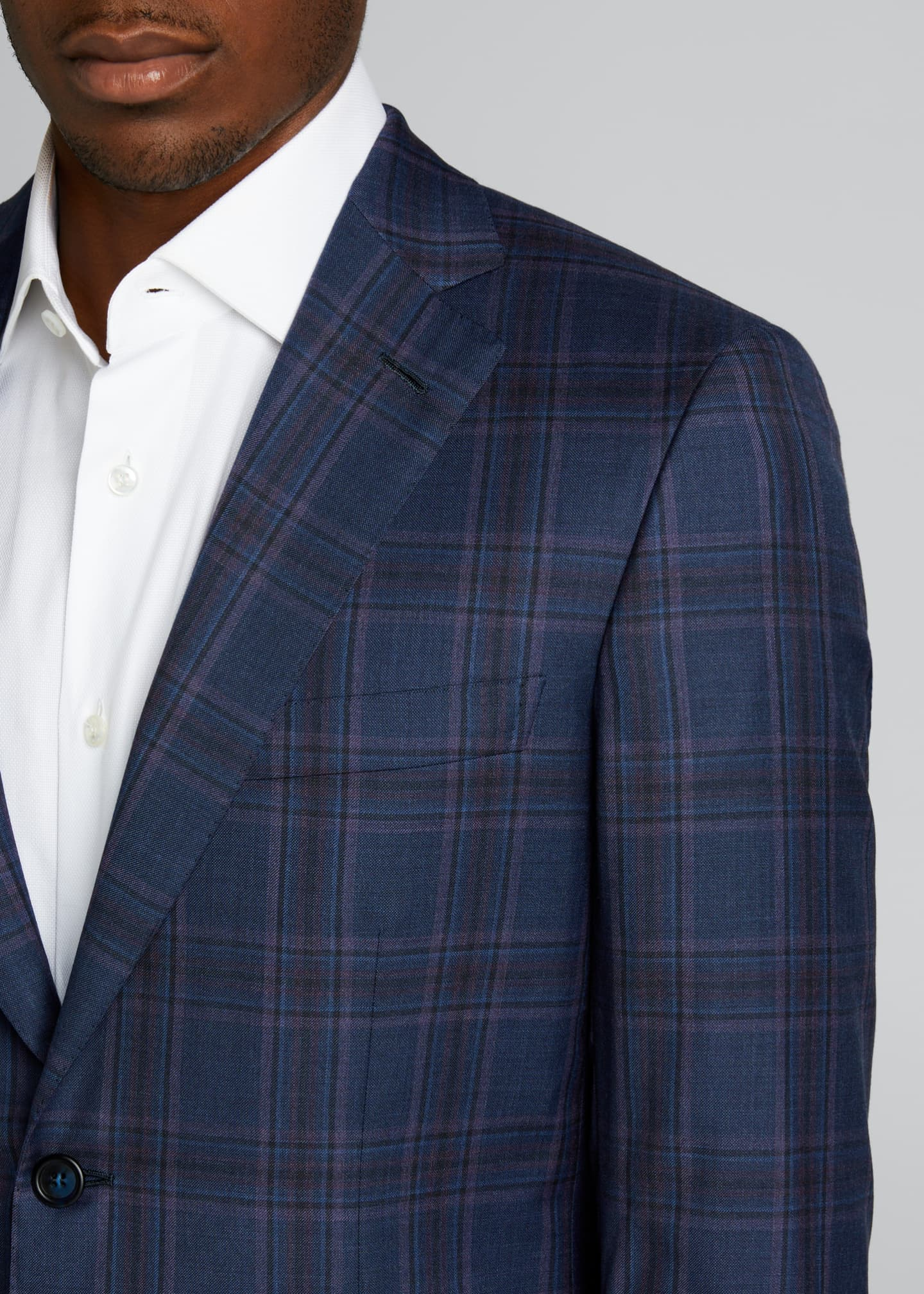 Image 4 of 5: Men's Plaid Wool Sport Jacket