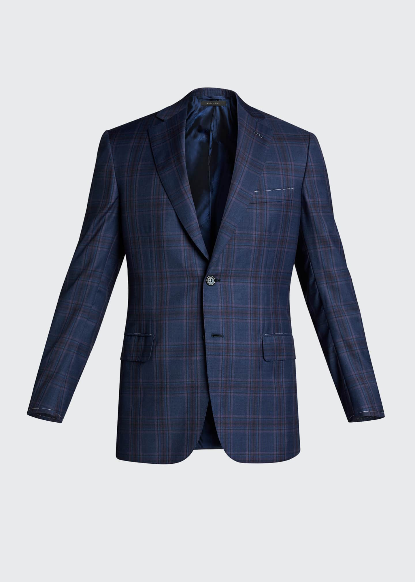 Image 5 of 5: Men's Plaid Wool Sport Jacket