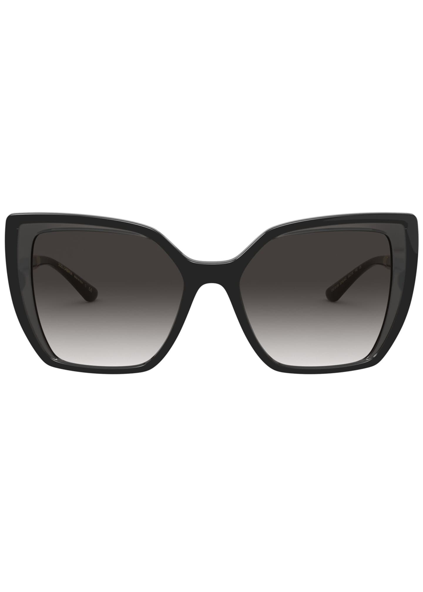 Image 2 of 3: Square Sunglasses w/ Colorblock Arms