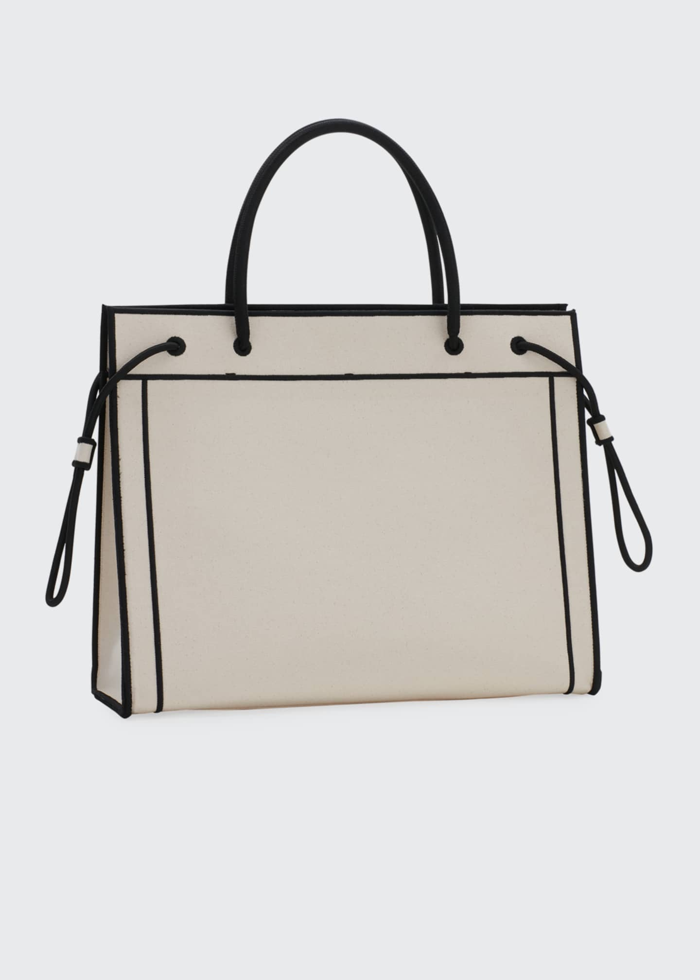 Image 3 of 3: Roma Large Canvas Shopper Tote Bag