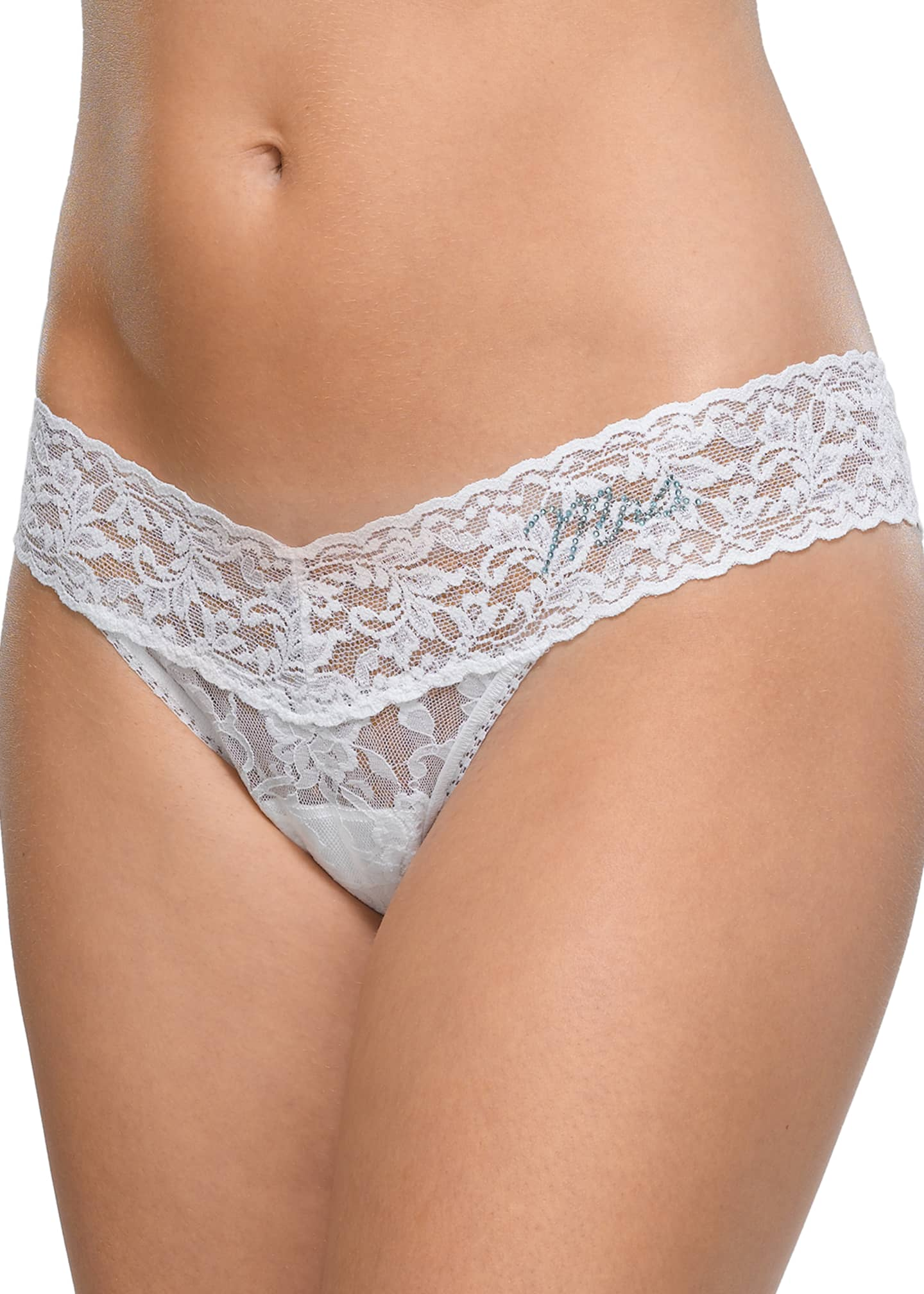 Image 1 of 1: Mrs. Low-Rise Lace Thong