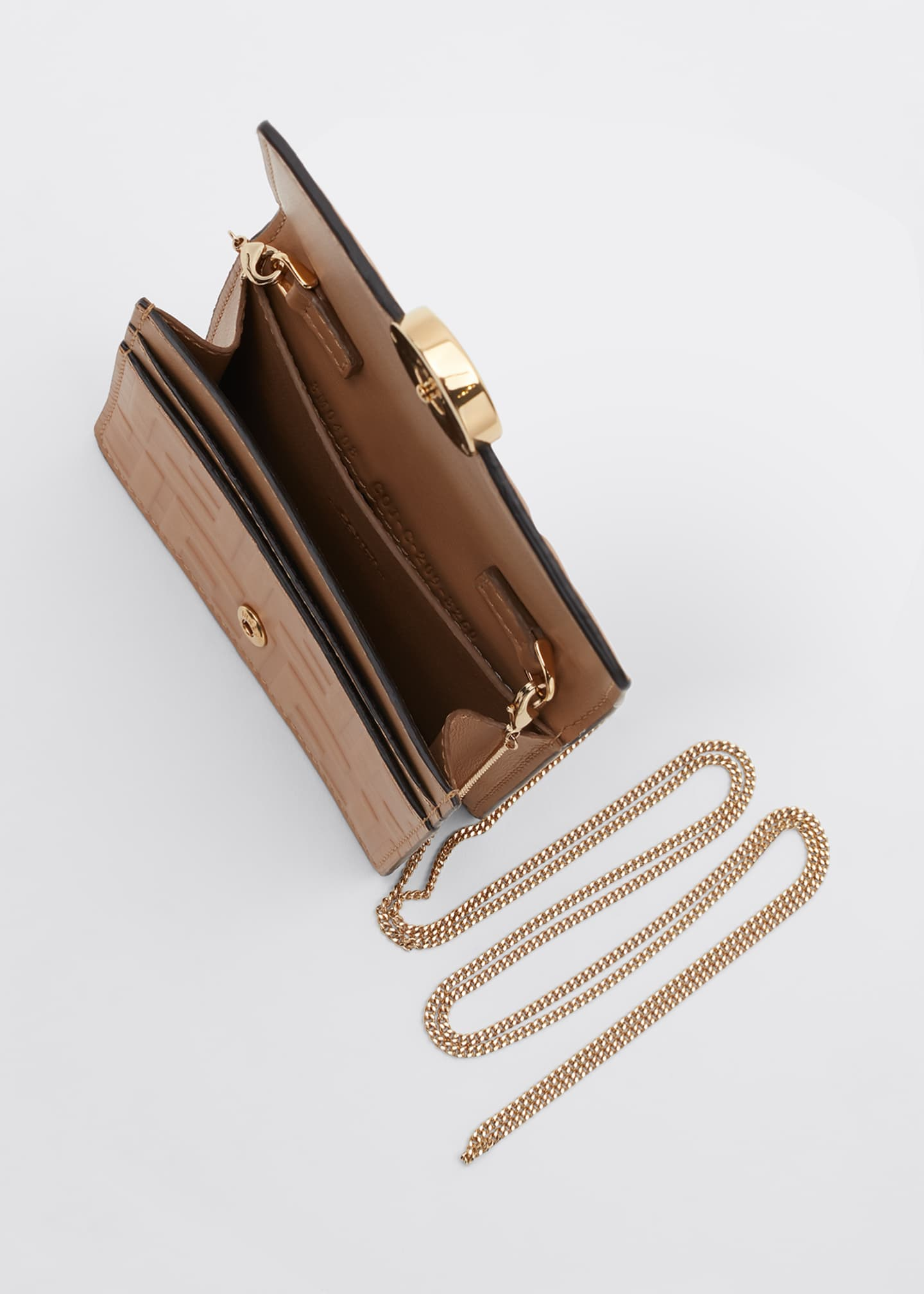 Image 4 of 5: F is Fendi 1974 FF Leather Wallet on Chain
