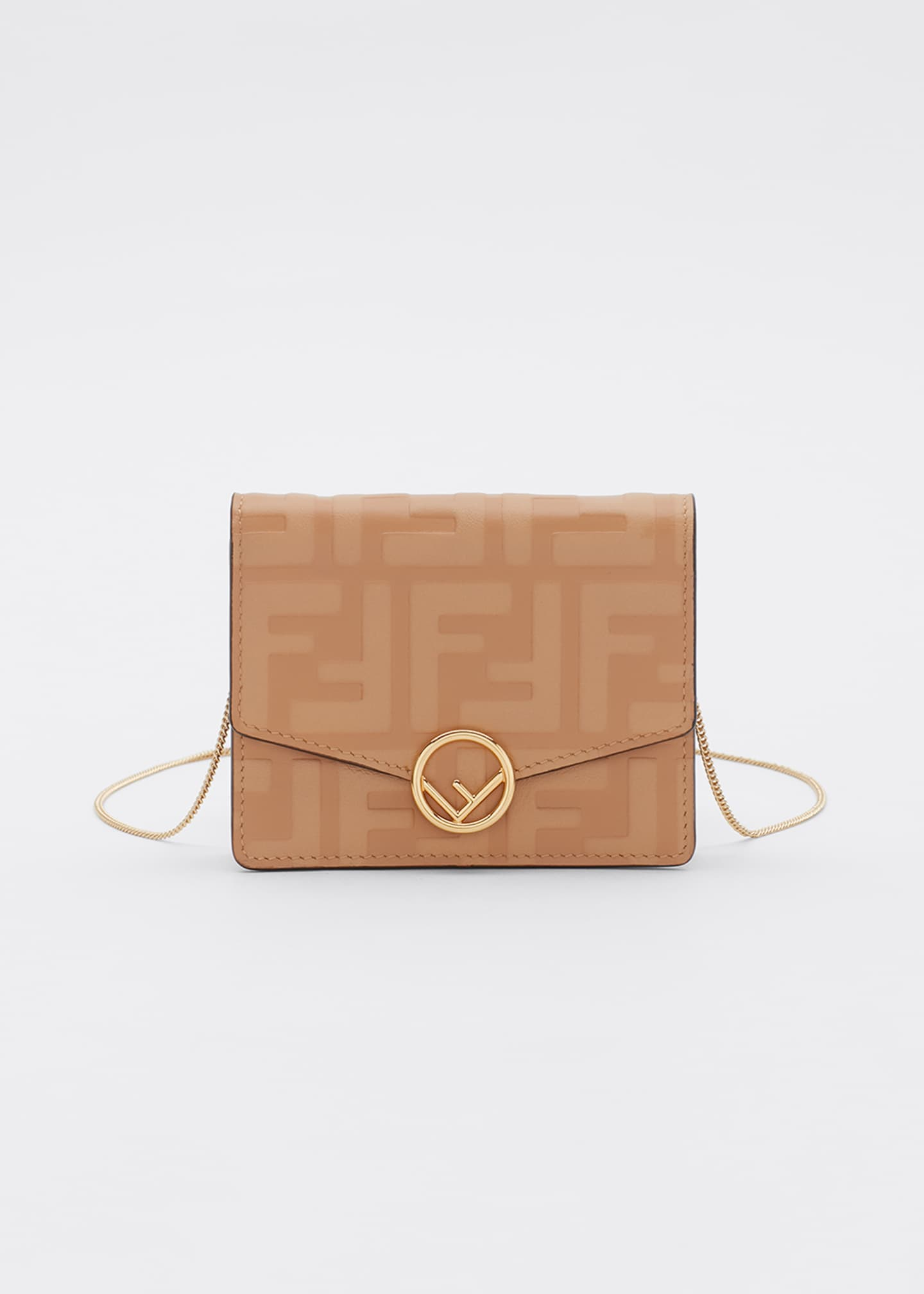 Image 1 of 5: F is Fendi 1974 FF Leather Wallet on Chain