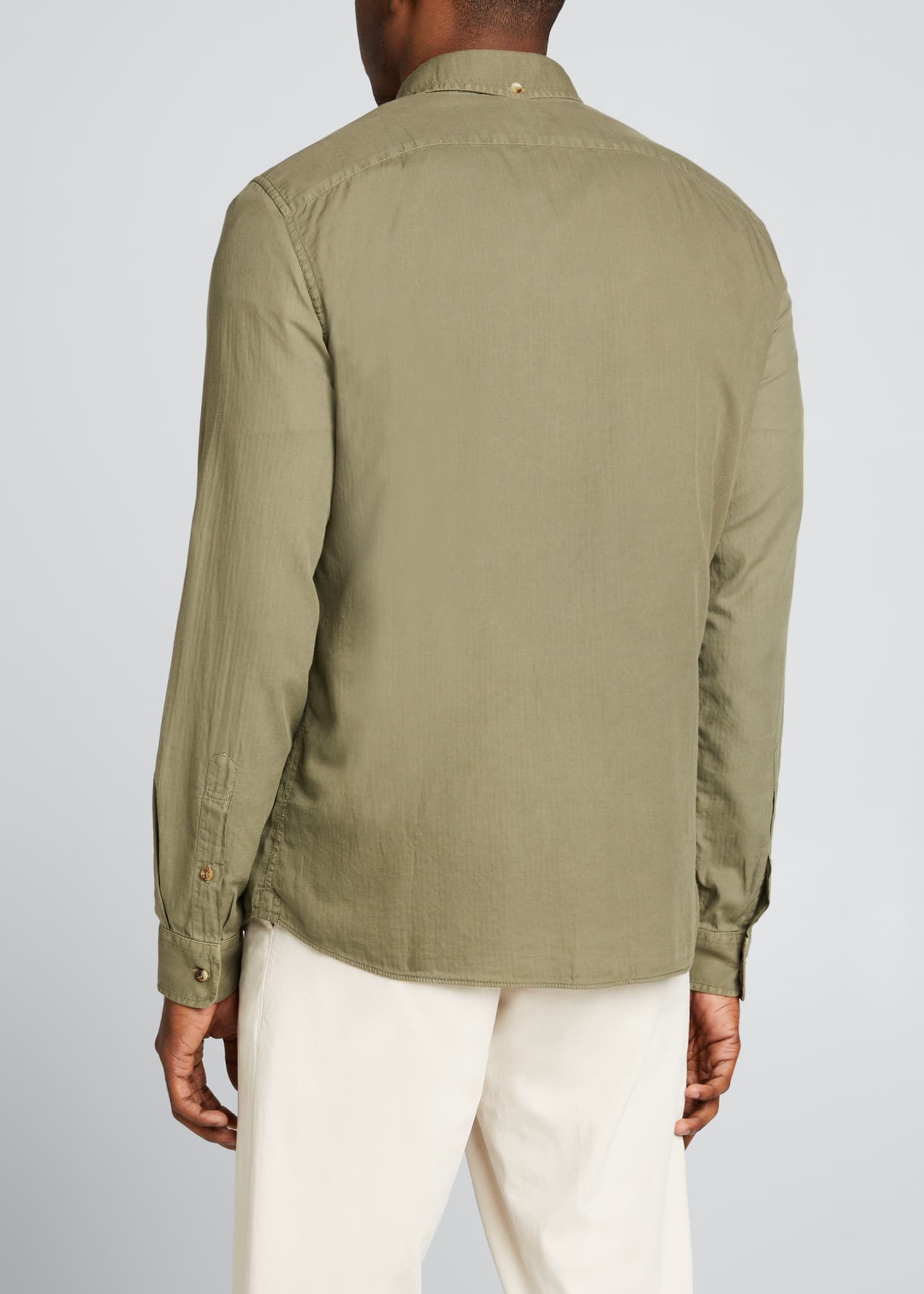 Image 2 of 5: Men's Leisure-Fit Solid Sport Shirt