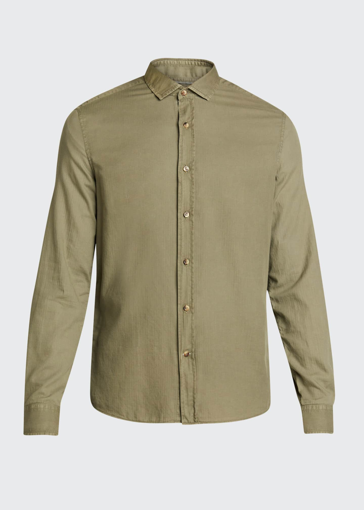 Image 5 of 5: Men's Leisure-Fit Solid Sport Shirt