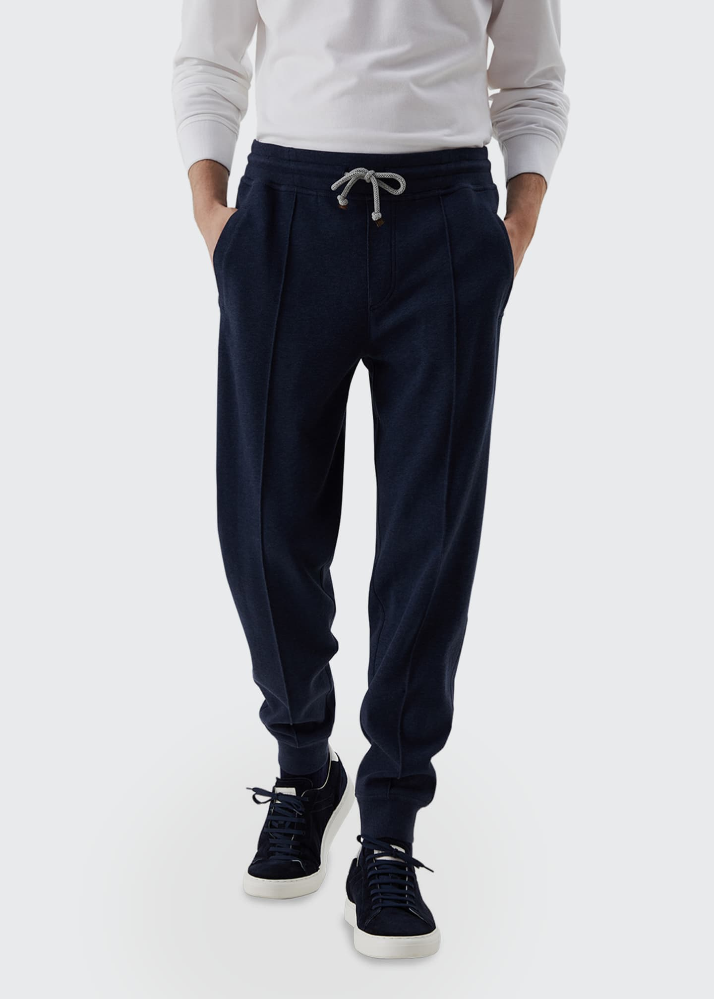 Image 1 of 3: Men's Drawstring Banded Sweatpants